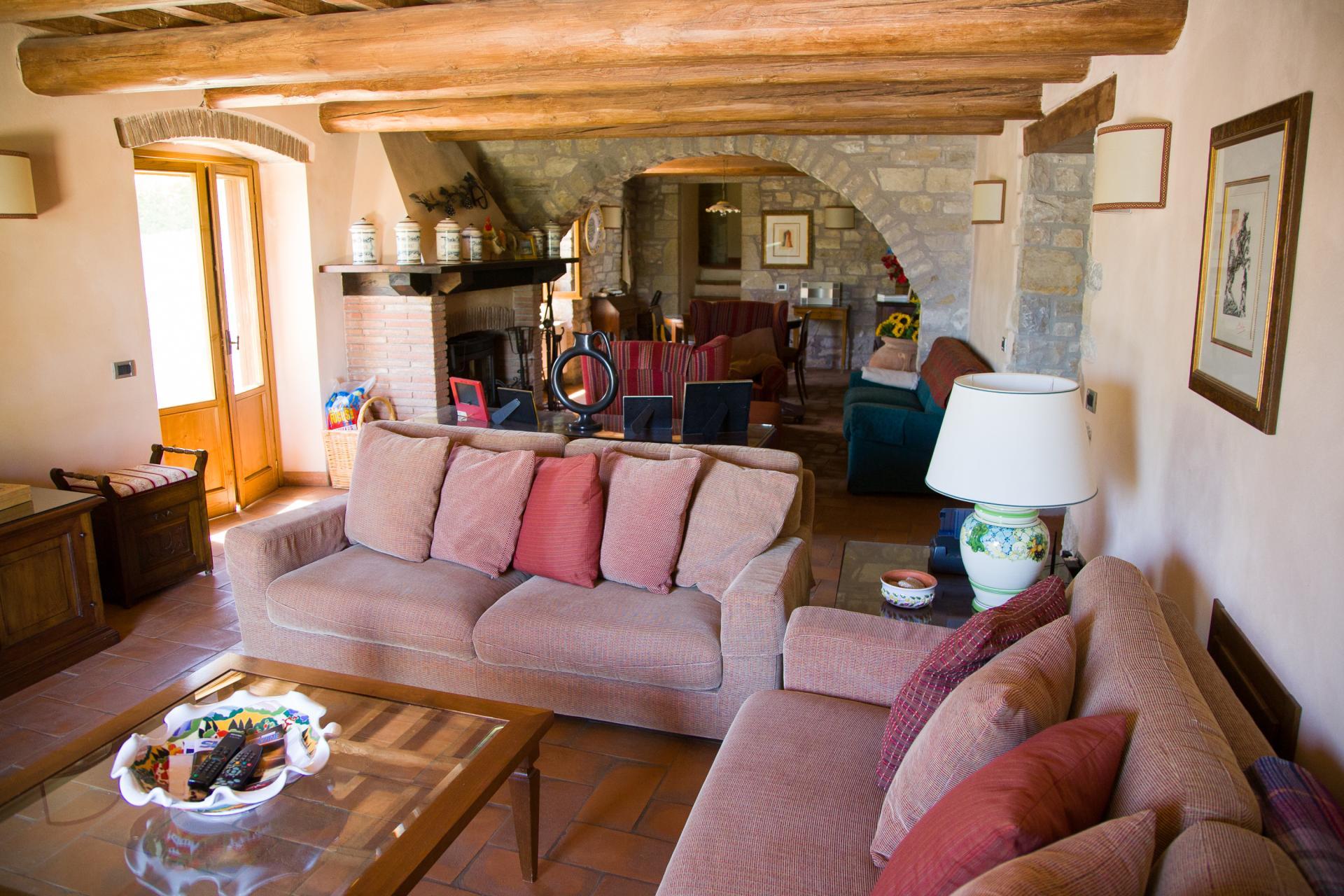 Living Room 1, La Colomba, Romazzano, Umbria.