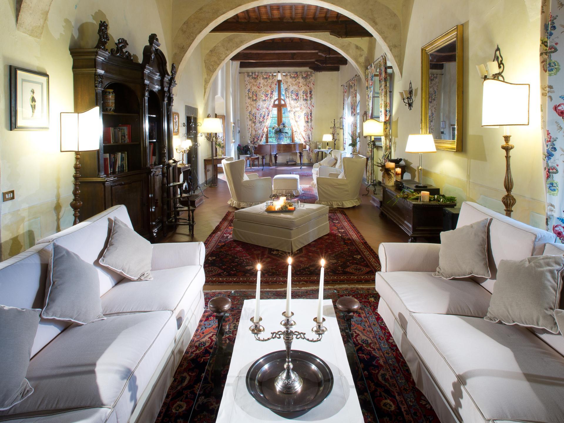 Living Room, Castello Fusi, Tuscany, Barberino Val d'Elsa.