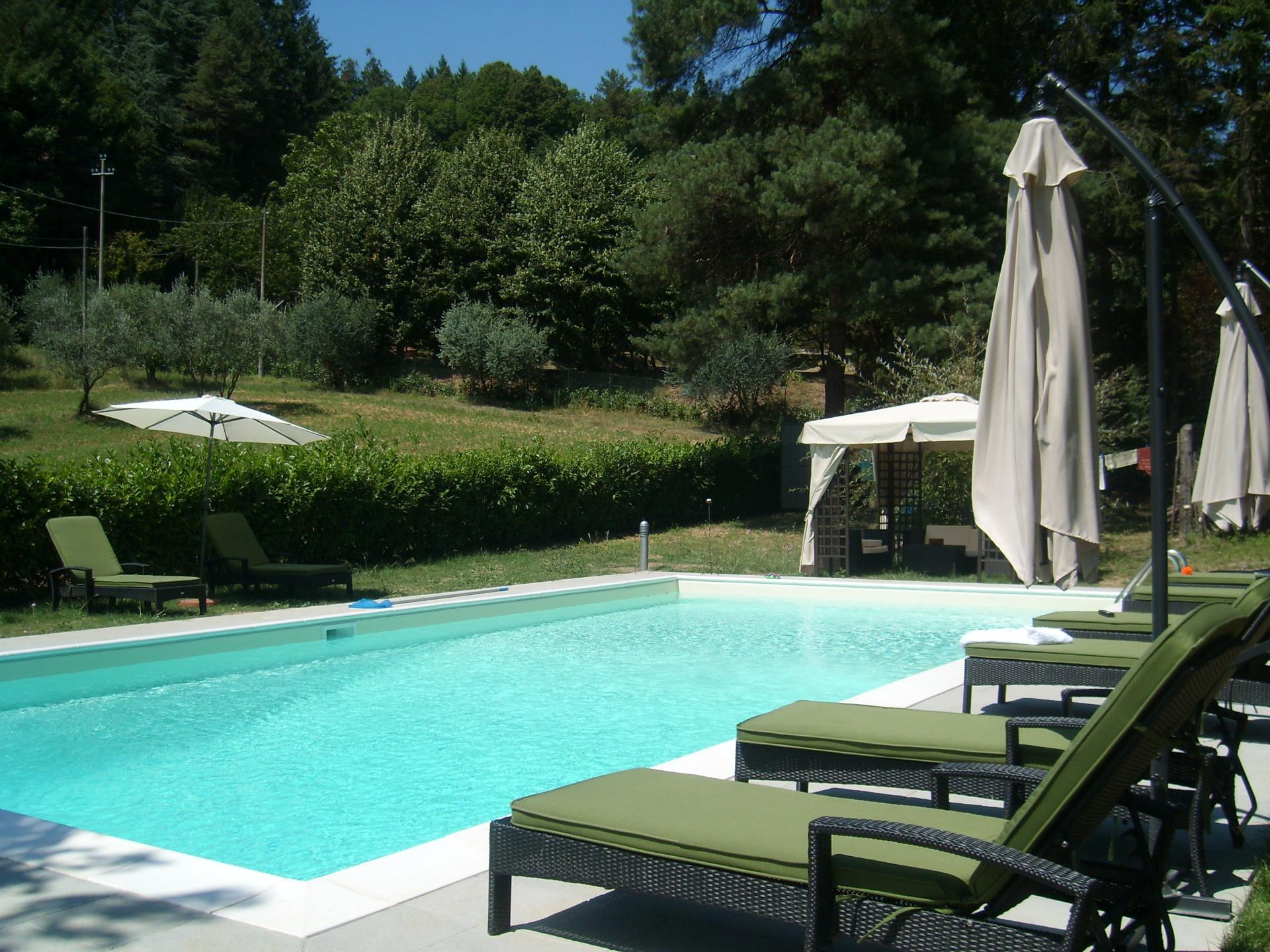 Outdoor pool, Casa Vilaggio, Tuscany, Luco di Mugello.