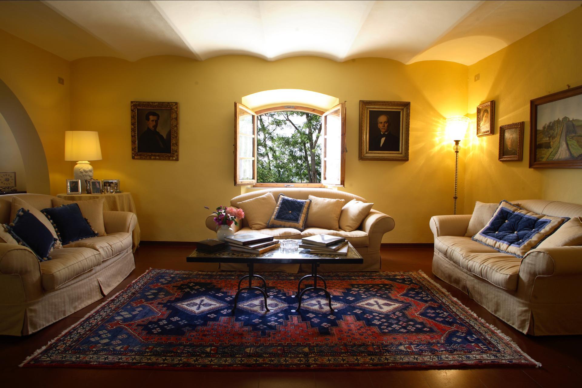 Lounge, Casa Francigena, Tuscany, Montaione.