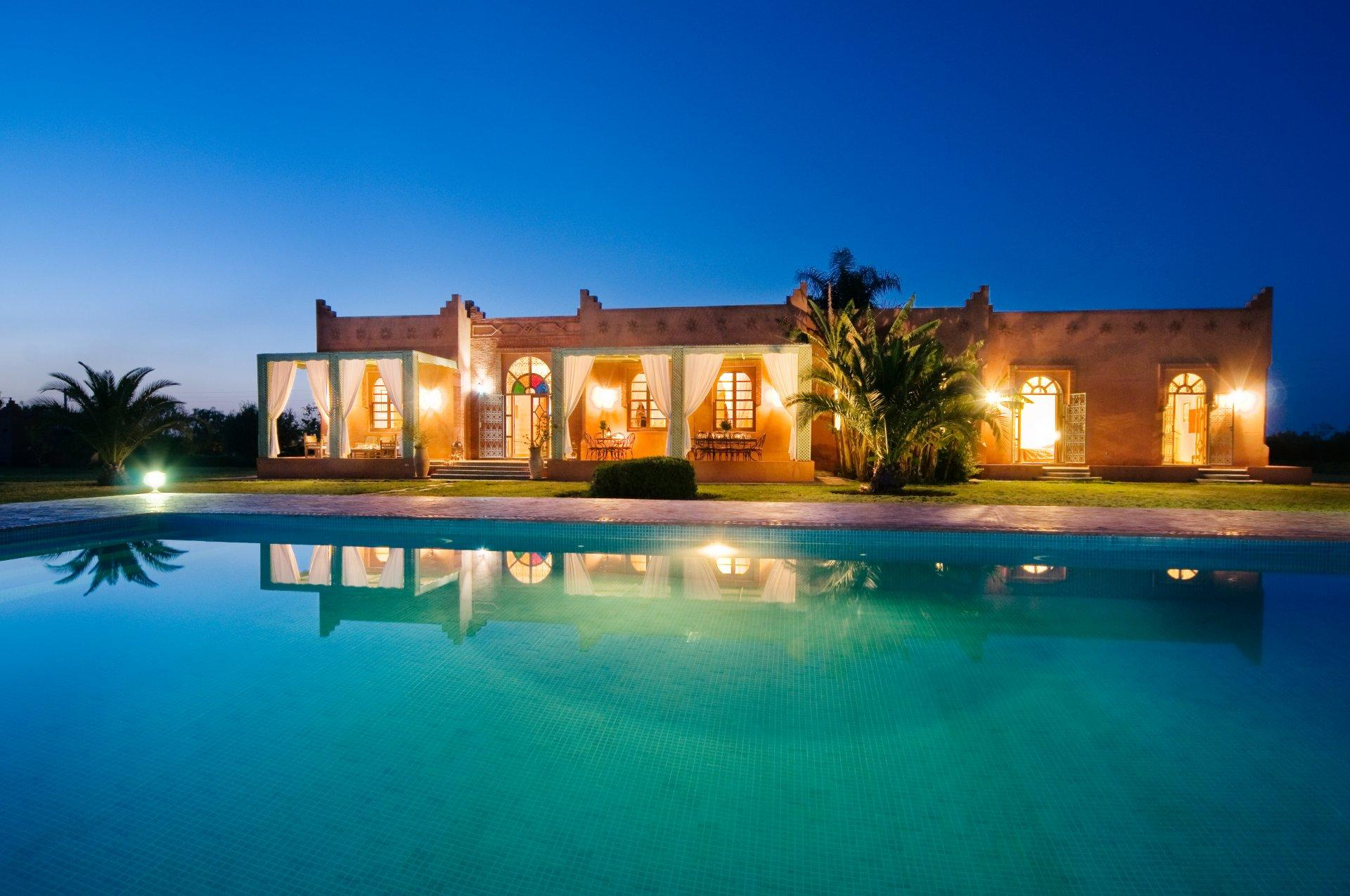 Marrakech villa to rent with air conditioning