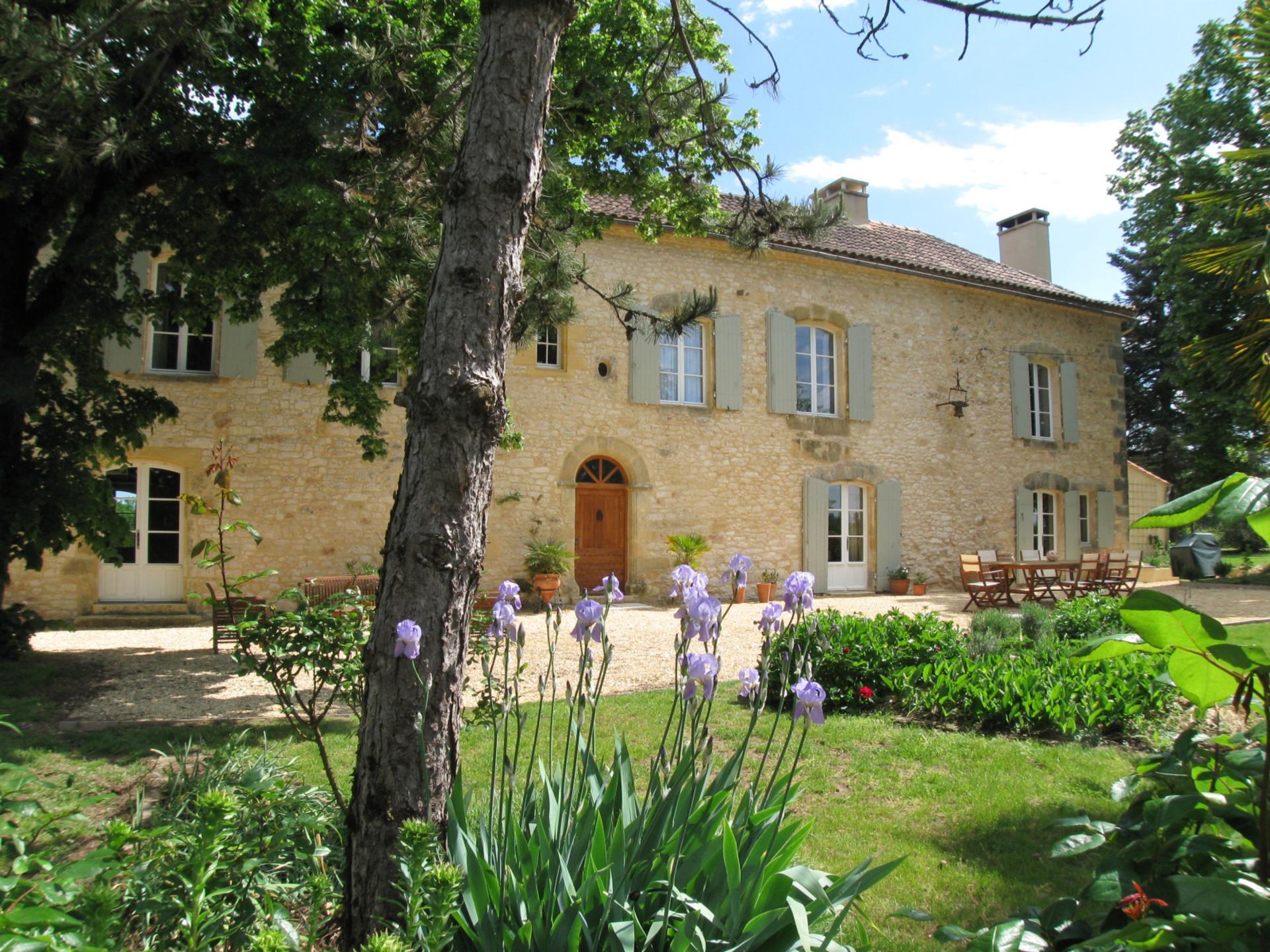 Villa Garden, Domaine de Maitre, Monpazier, Dordogne.