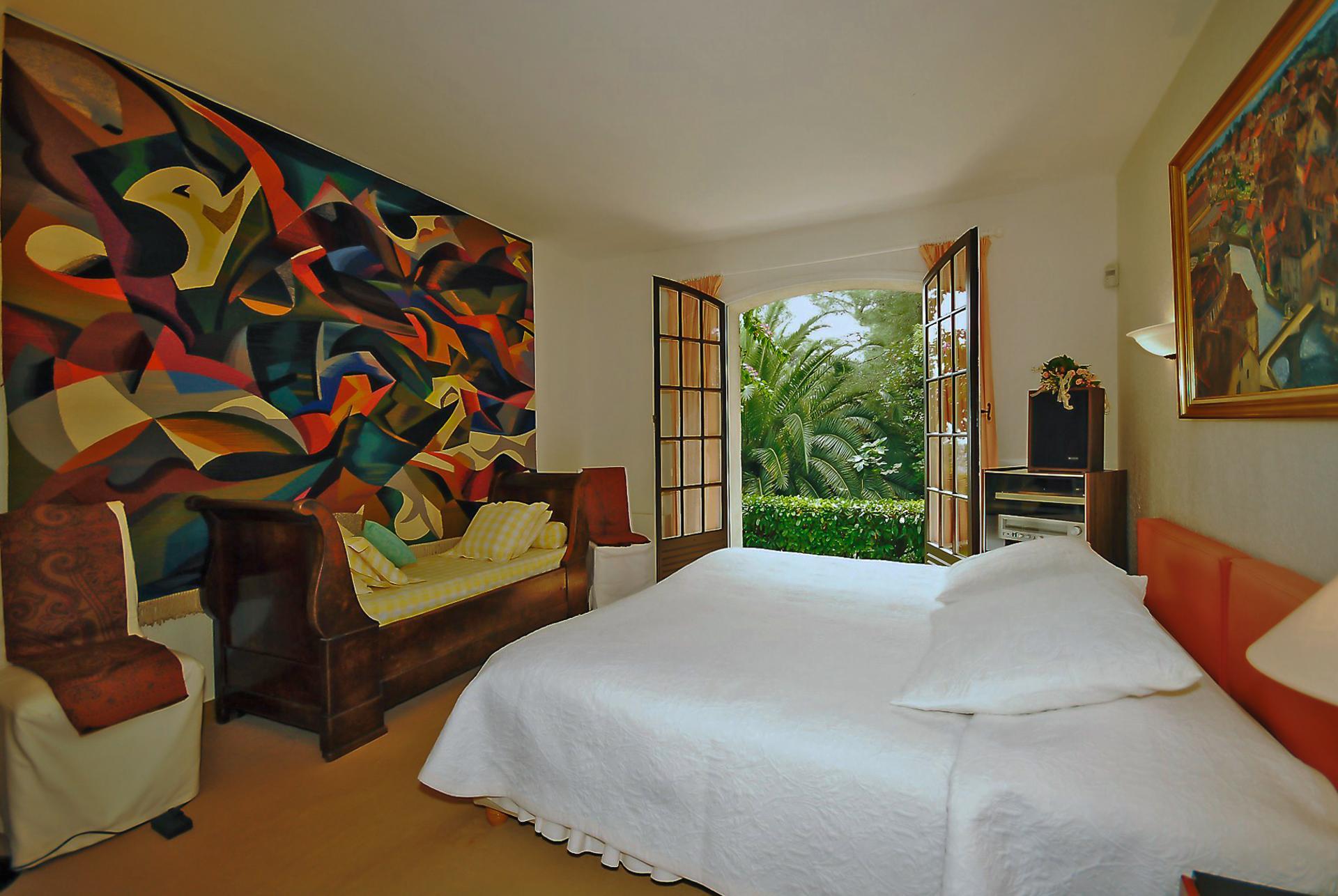 Bedroom 1, La Bergerie, Vence, Cote d'Azur.