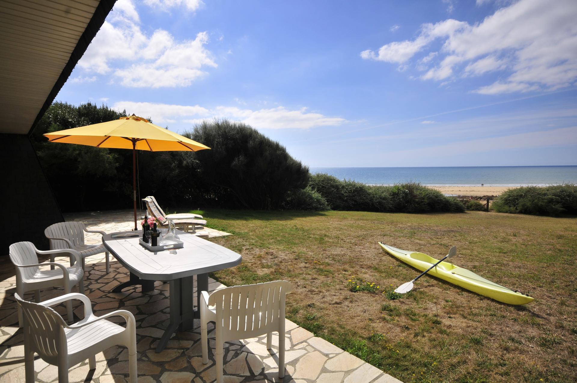 Villa Garden, Cottage on the Beach, Le Pouldu, Brittany.