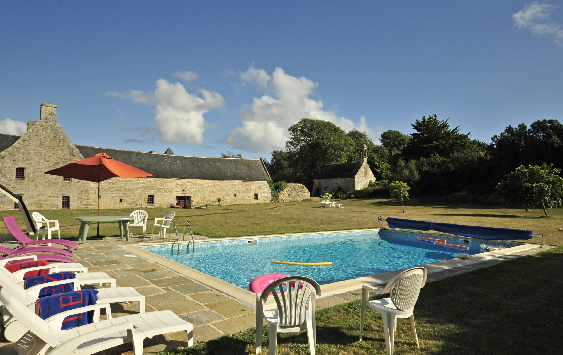Shared pool, Breton Manor Estate, Brittany, Audierne.