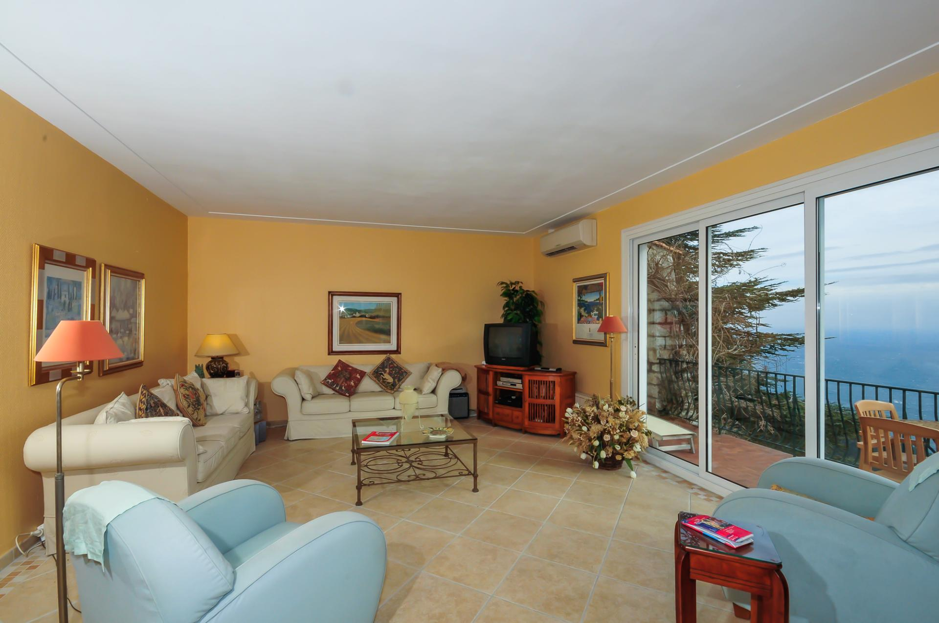 Living Room, L'Oiseau Marin, Eze-sur-mer, Cote d'Azur.