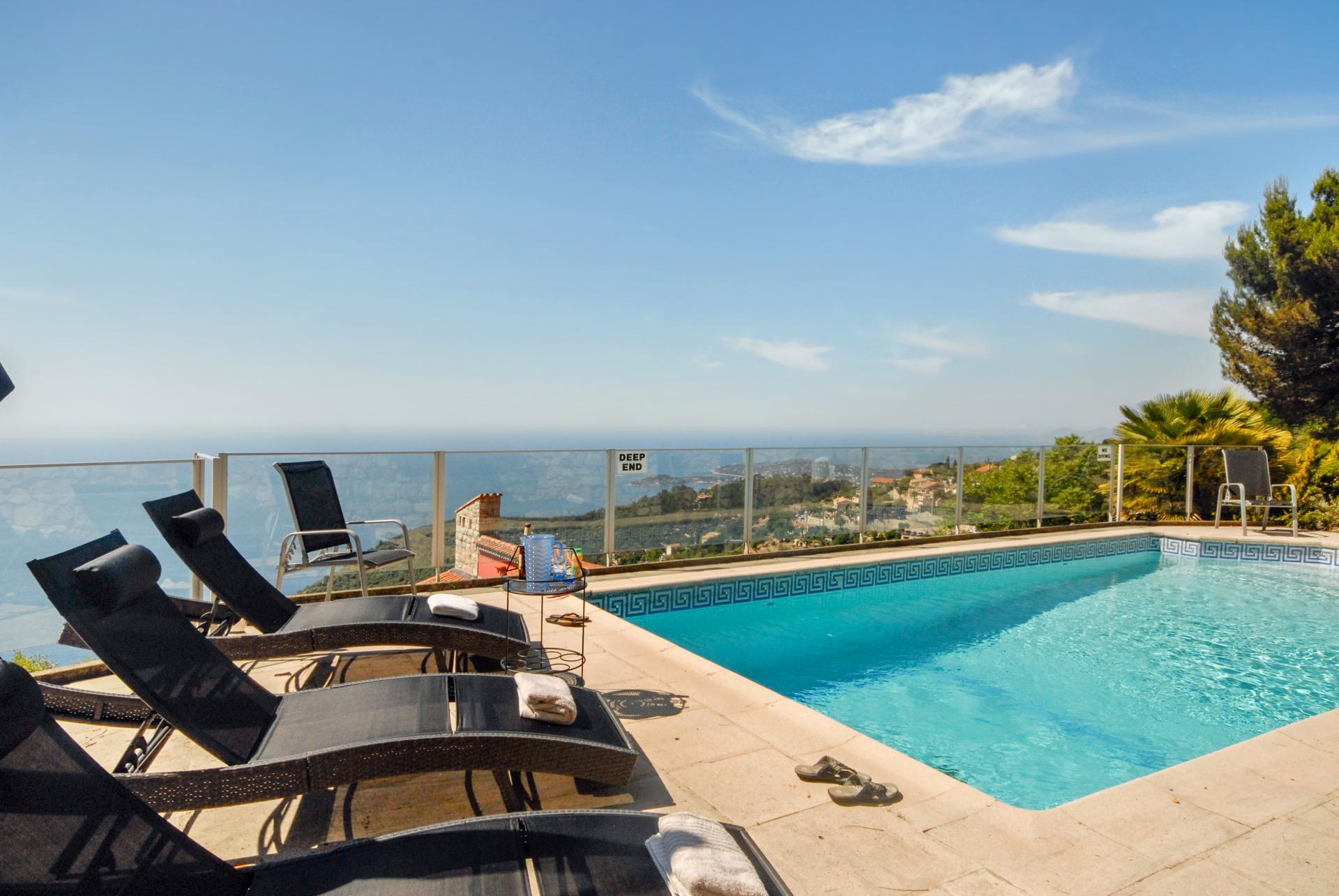 Outdoor Pool 2, L'Oiseau Marin, Eze-sur-mer, Cote d'Azur.
