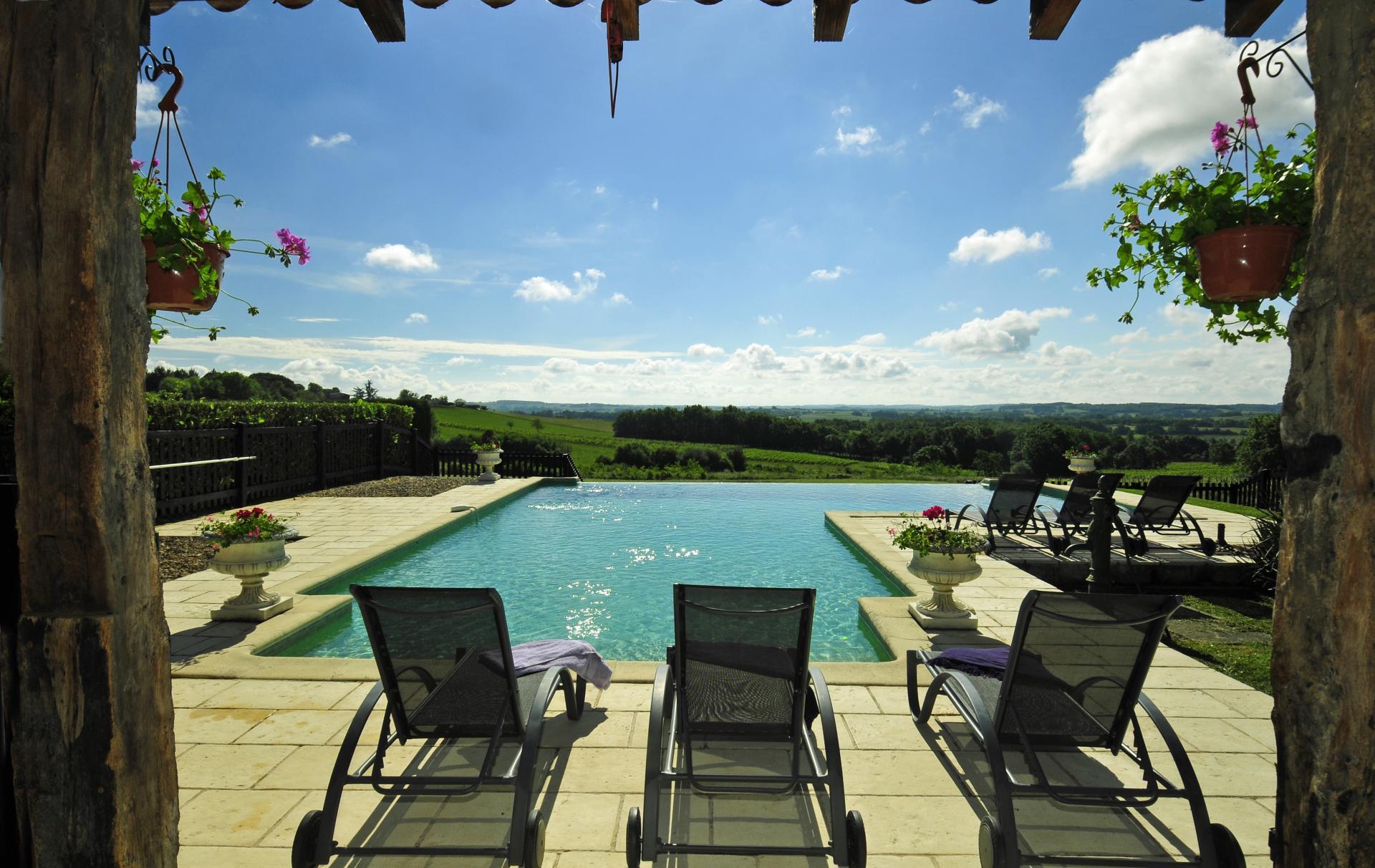 Pool 1, La Vieille Ferme, Saussignac, Dordogne.