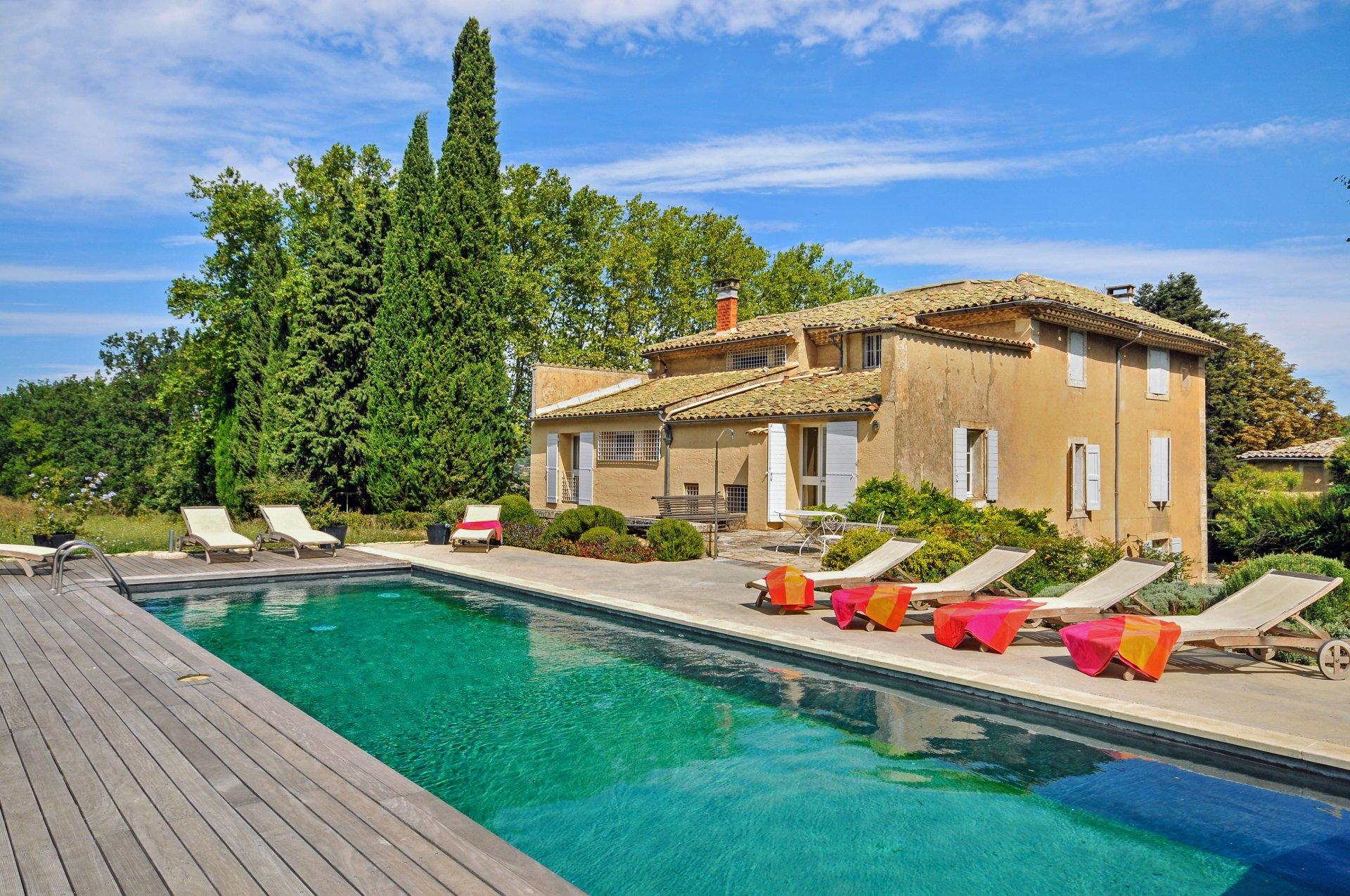 Outdoor Pool 1, Grand Luberon, Apt, Provence.