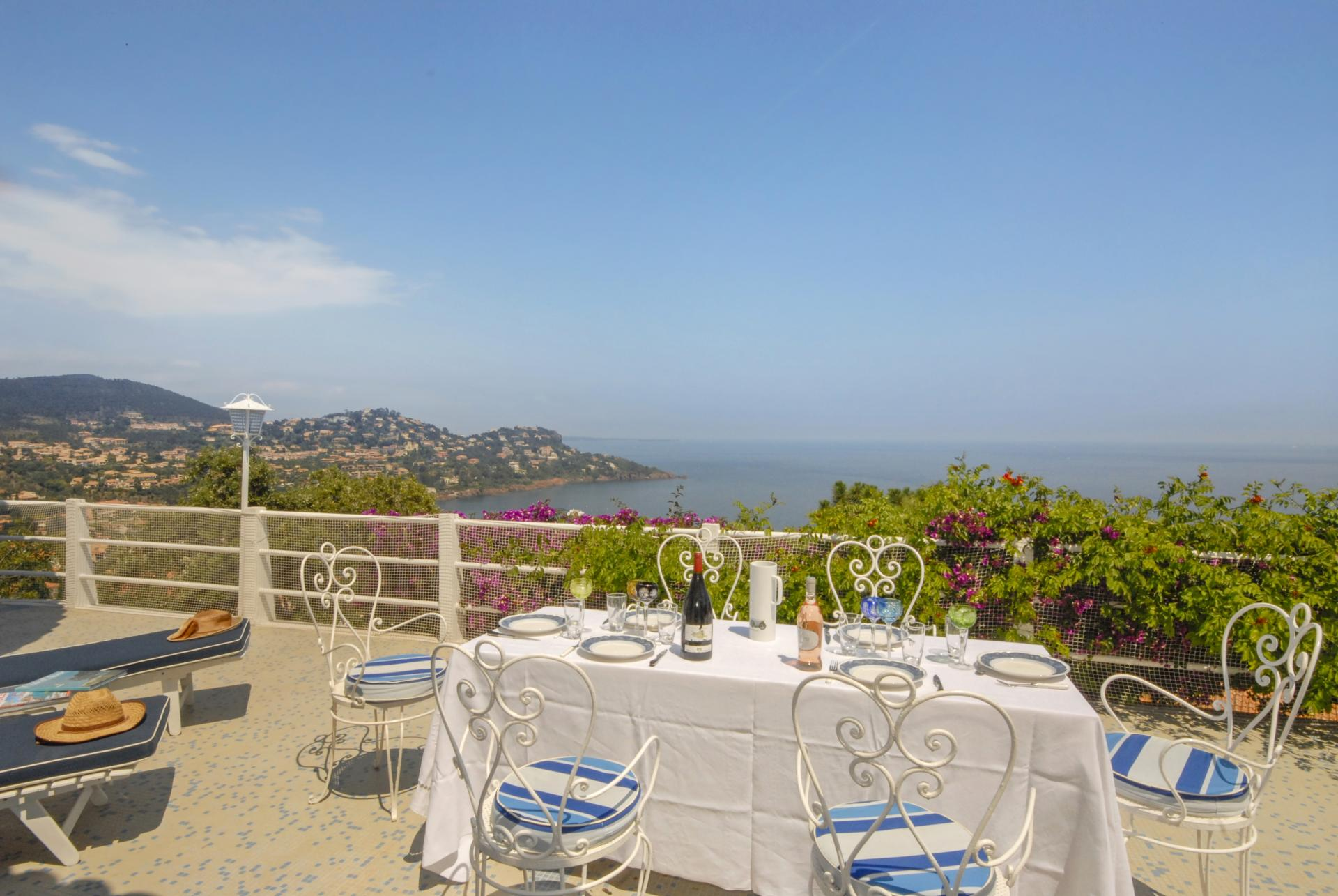 Outdoor Dining Table, L'Oursin, Le Trayas, Cote d'Azur.