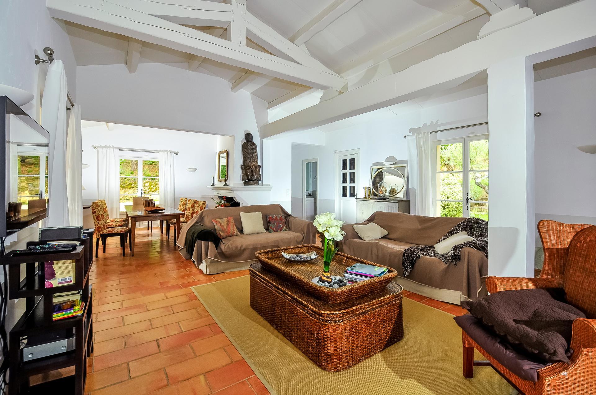 Living Room, La Maison Des Vignes, Ramatuelle, St Tropez Var.