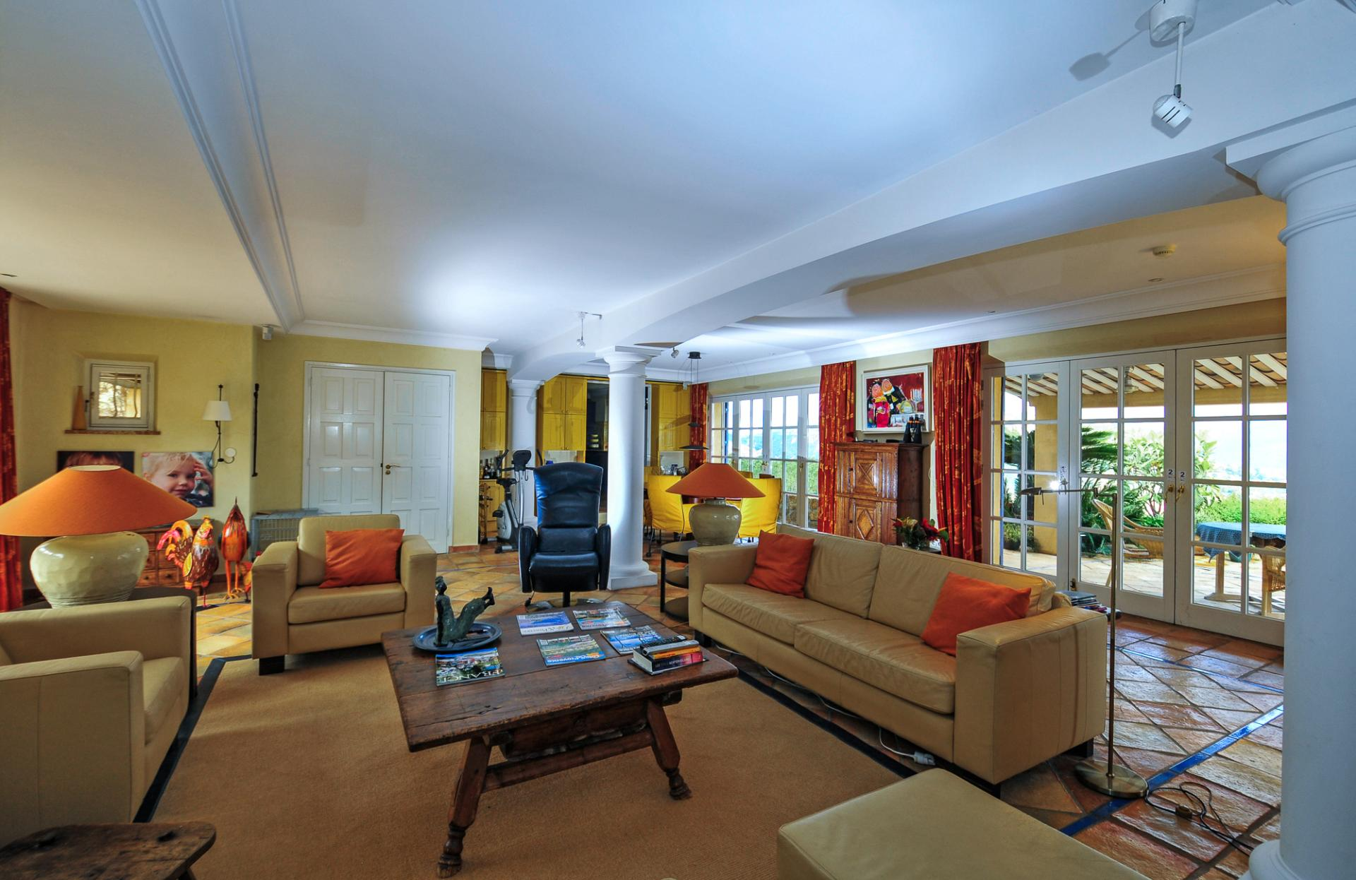 Living Room, L'Hippocampe, Theoule-sur-mer, Cote d'Azur.