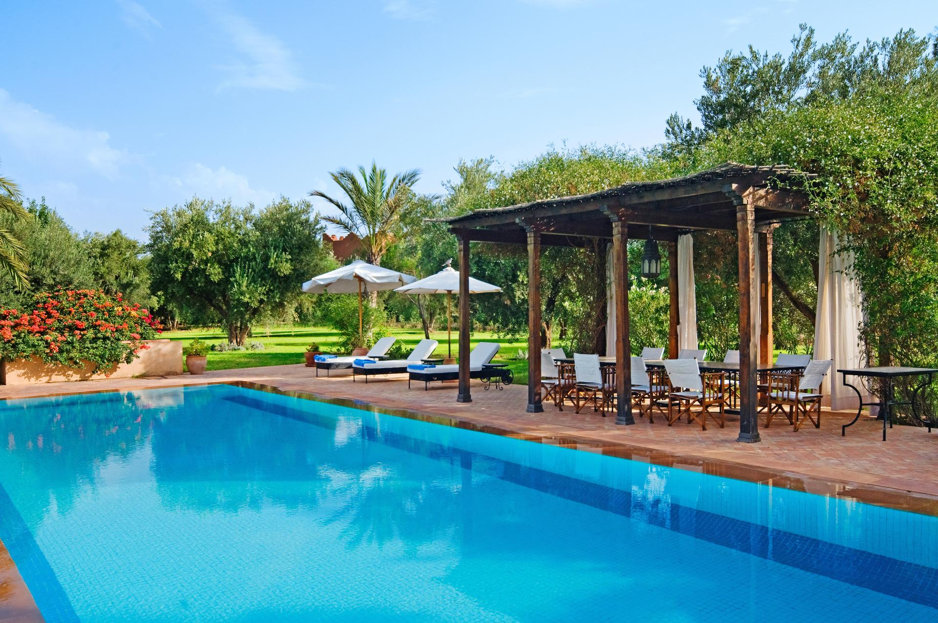 luxury villa Marrakech with tennis and heated pool