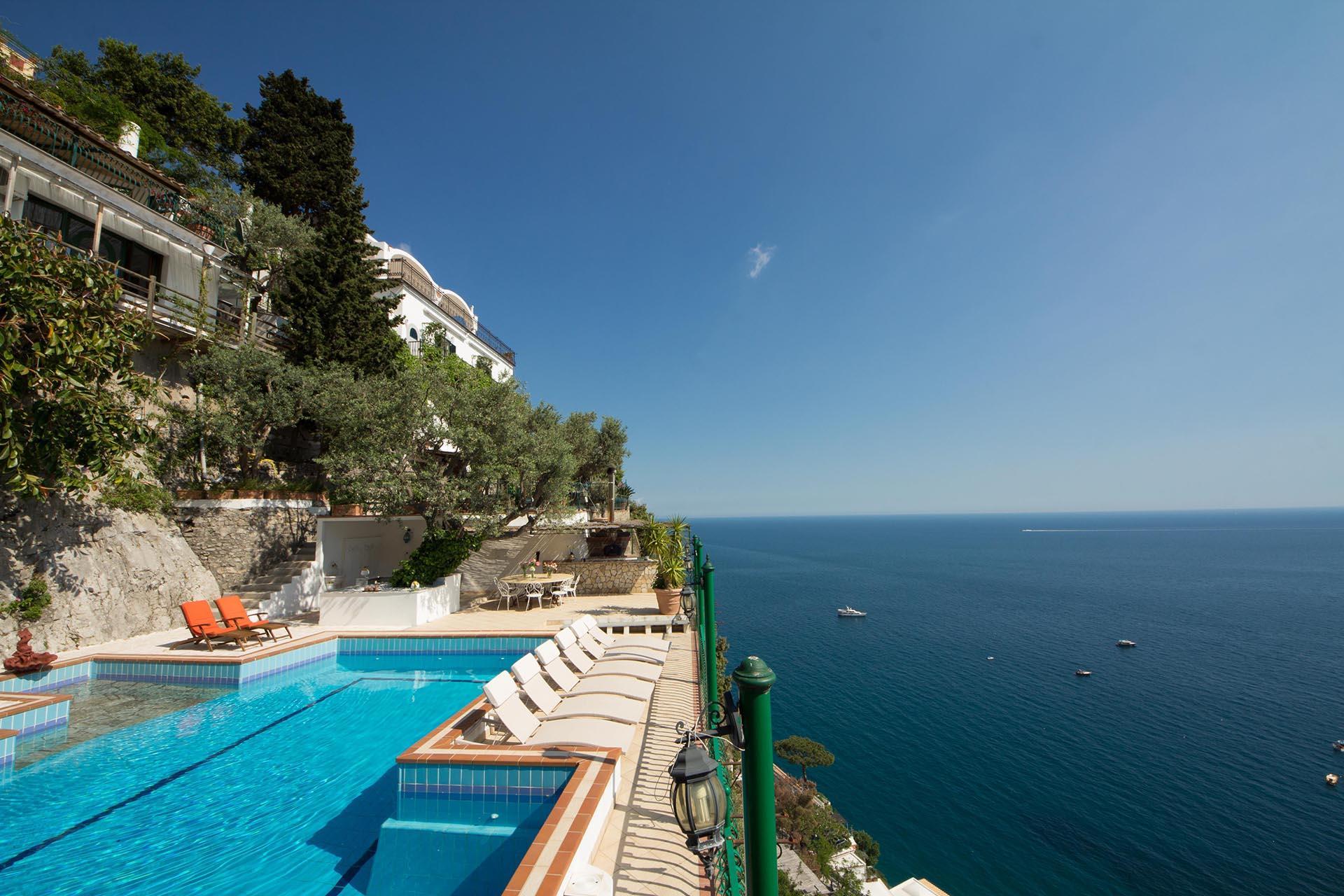 Pool and Sea View , La Scogliera, Positano, Amalfi Coast Campania.