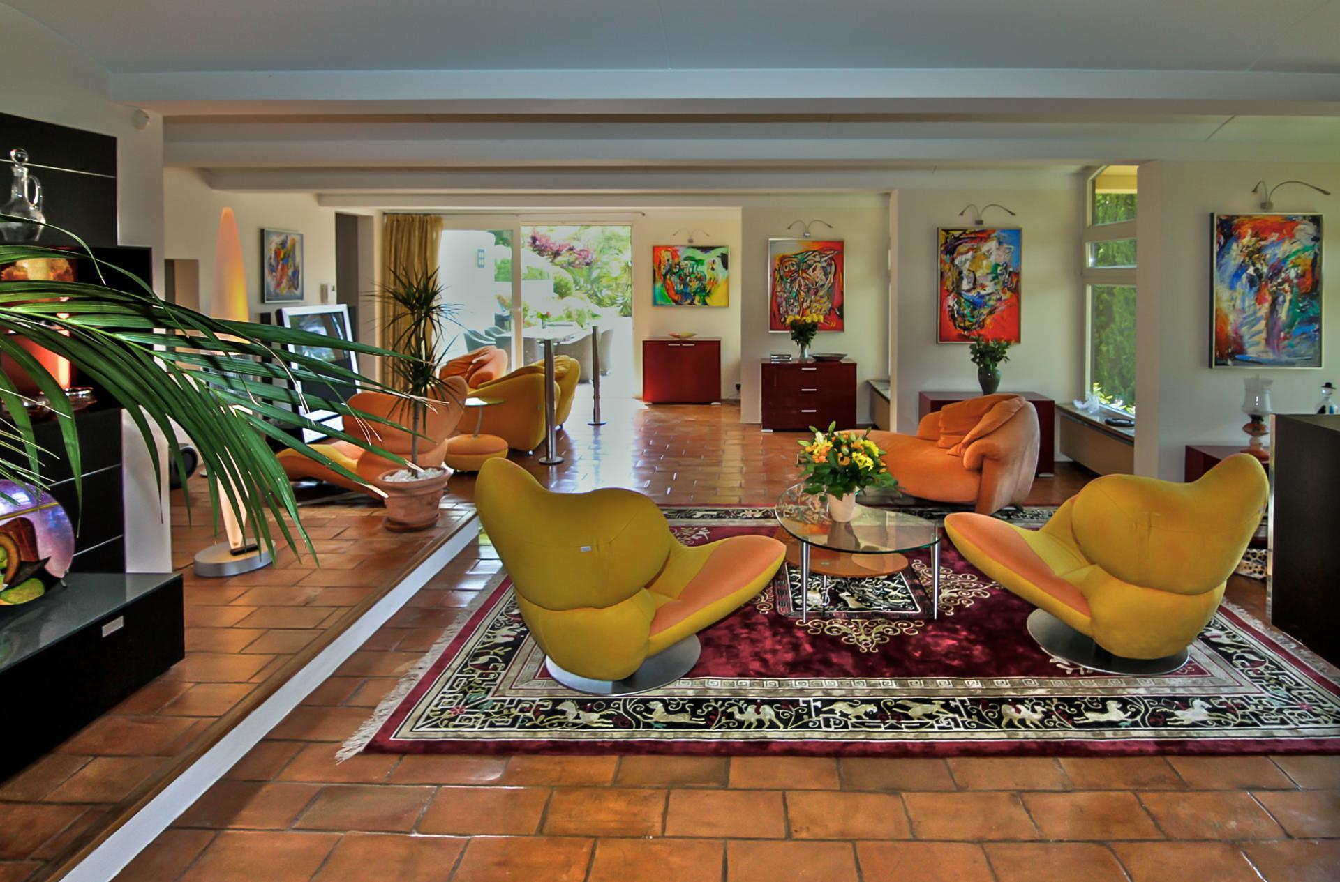 Living Area, La Pagode, Mougins, Cote D'Azur.