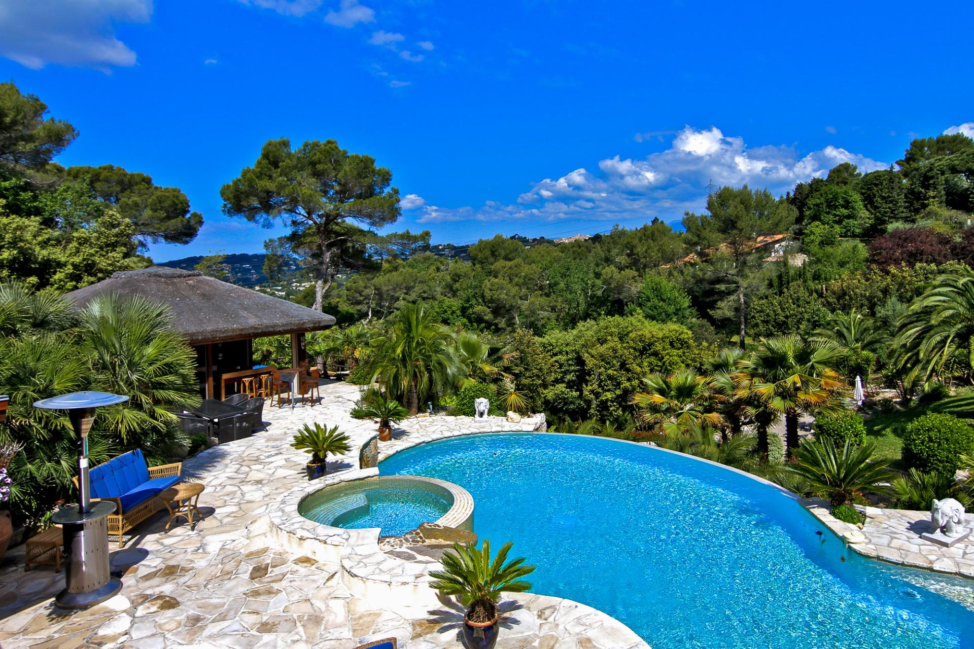 Villa, Pool and Grounds, La Pagode, Mougins, Cote D'Azur.
