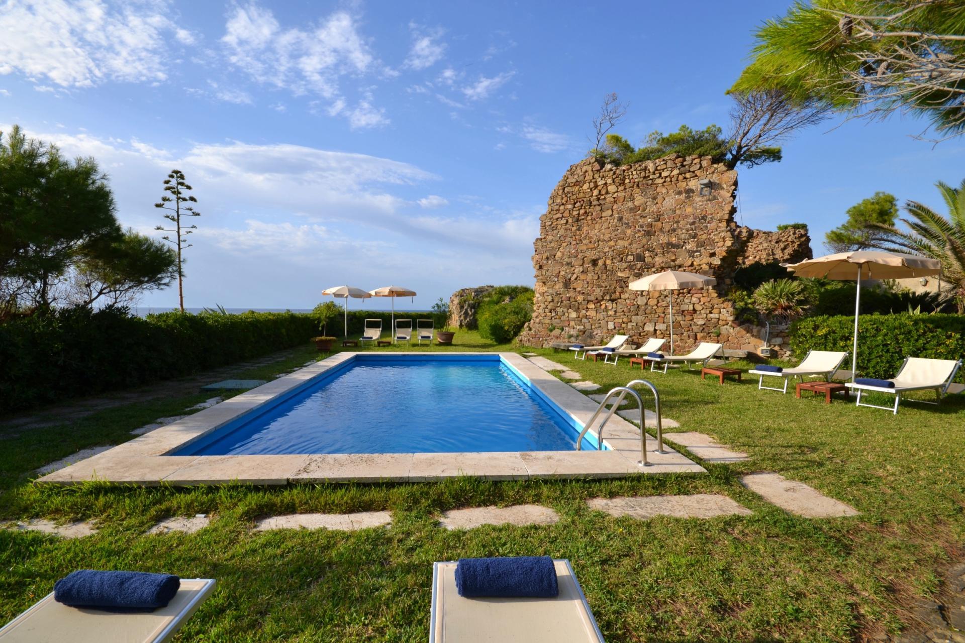 Outdoor Pool, Faro di Ulisse, Castellabate, Amalfi Coast Campania.