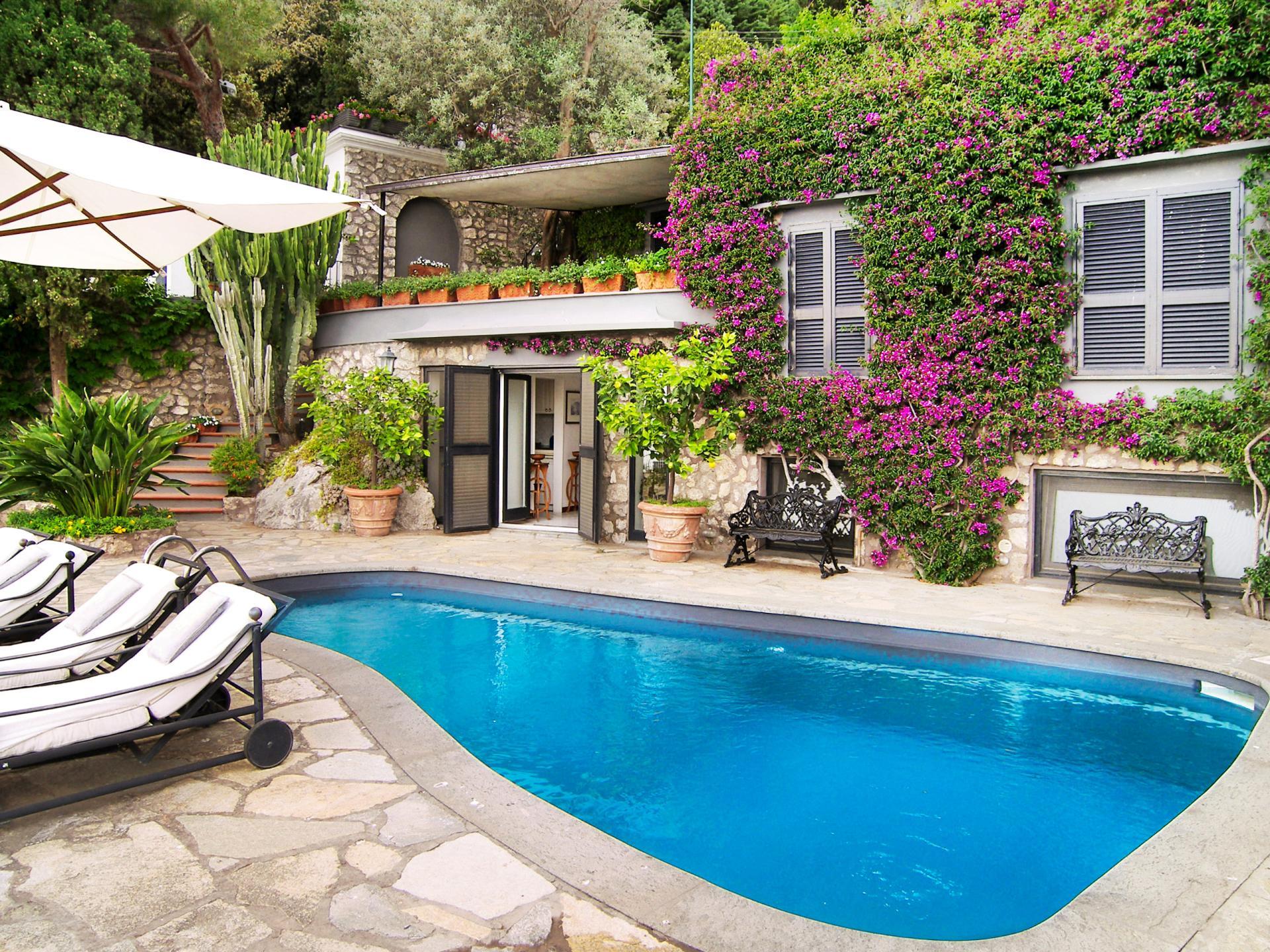 Outdoor Pool, Faraglioni di Capri, Island of Capri, Amalfi Coast Campania.