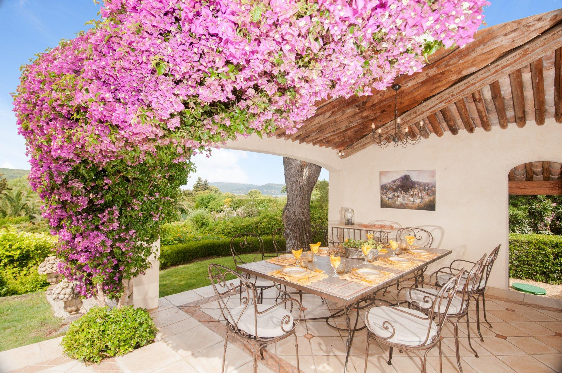 Outdoor Dining Table, L'Emeraude, St Tropez, St Tropez Var.