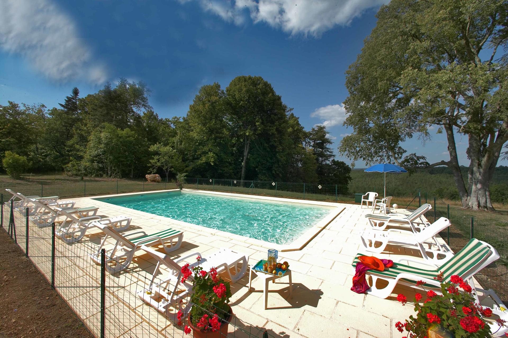 Outdoor Pool 2, Chateau de Cardoux, Dordogne, Lalinde.