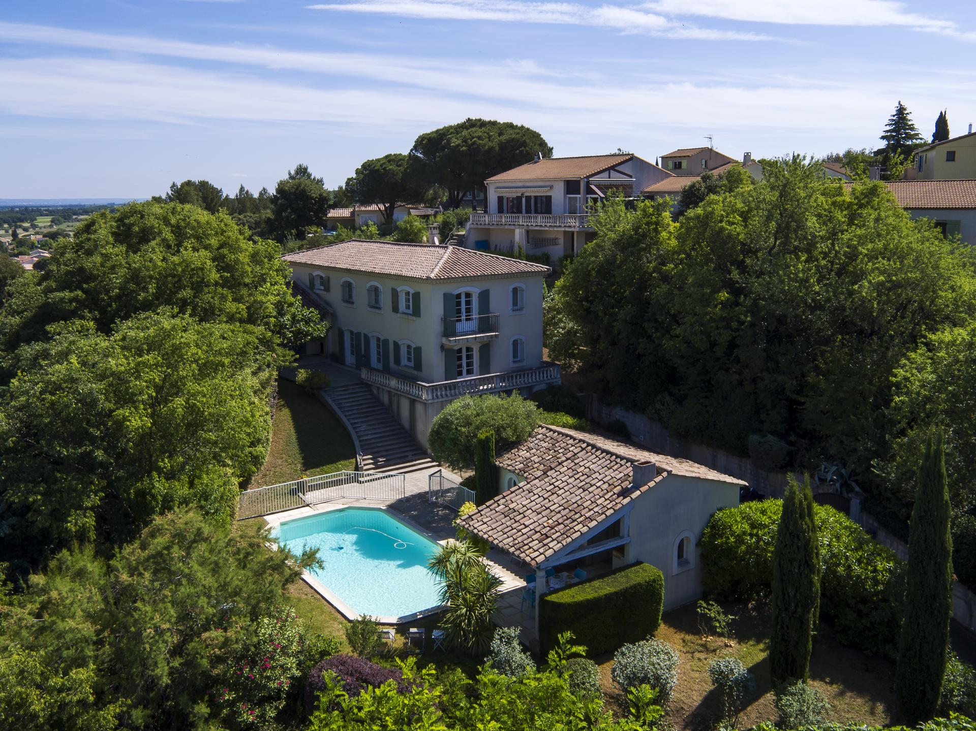Villa, Grounds and Pool, Le Cheval Blanc, Vauvert, Provence.