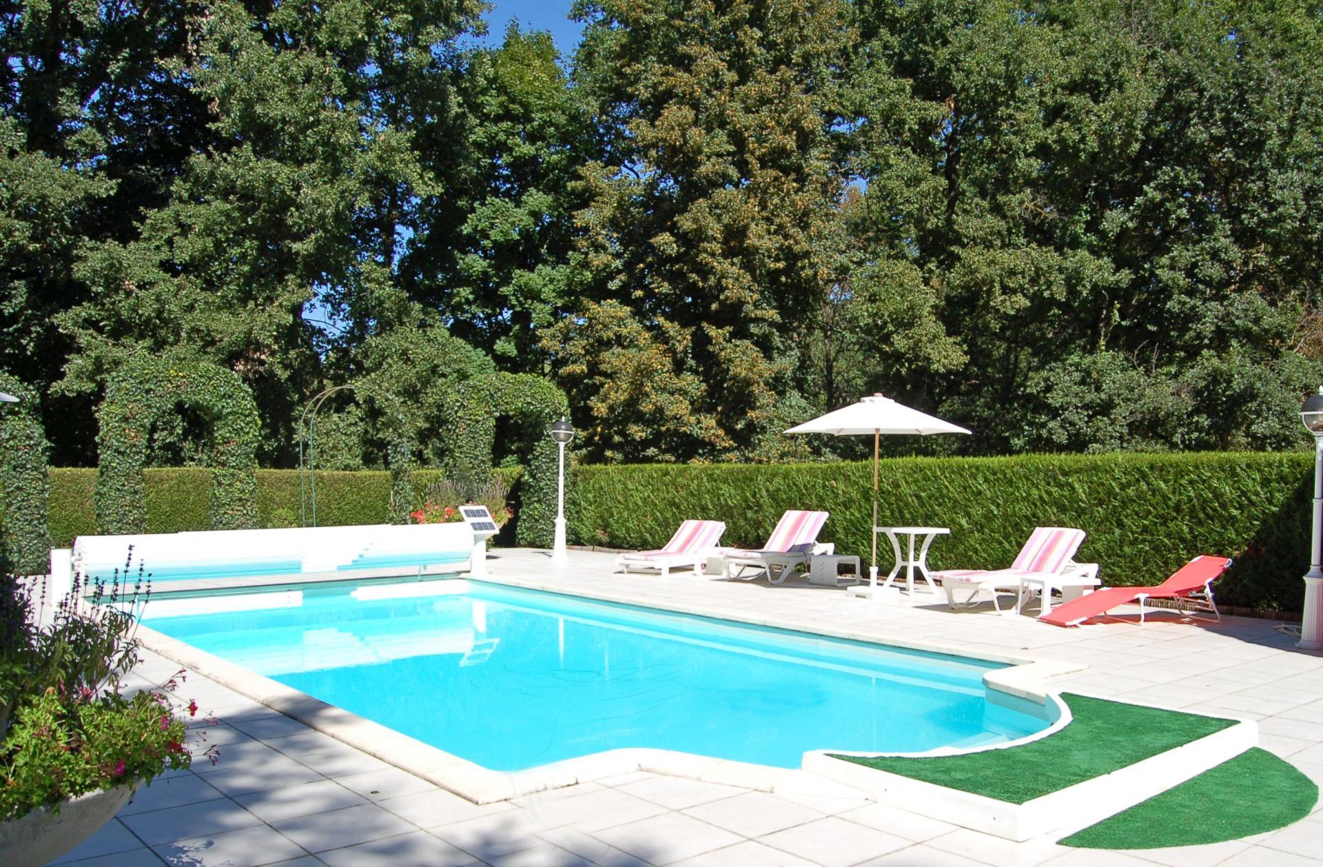 Outdoor Pool, Chateau des Lutins, Lencloitre, Loire.
