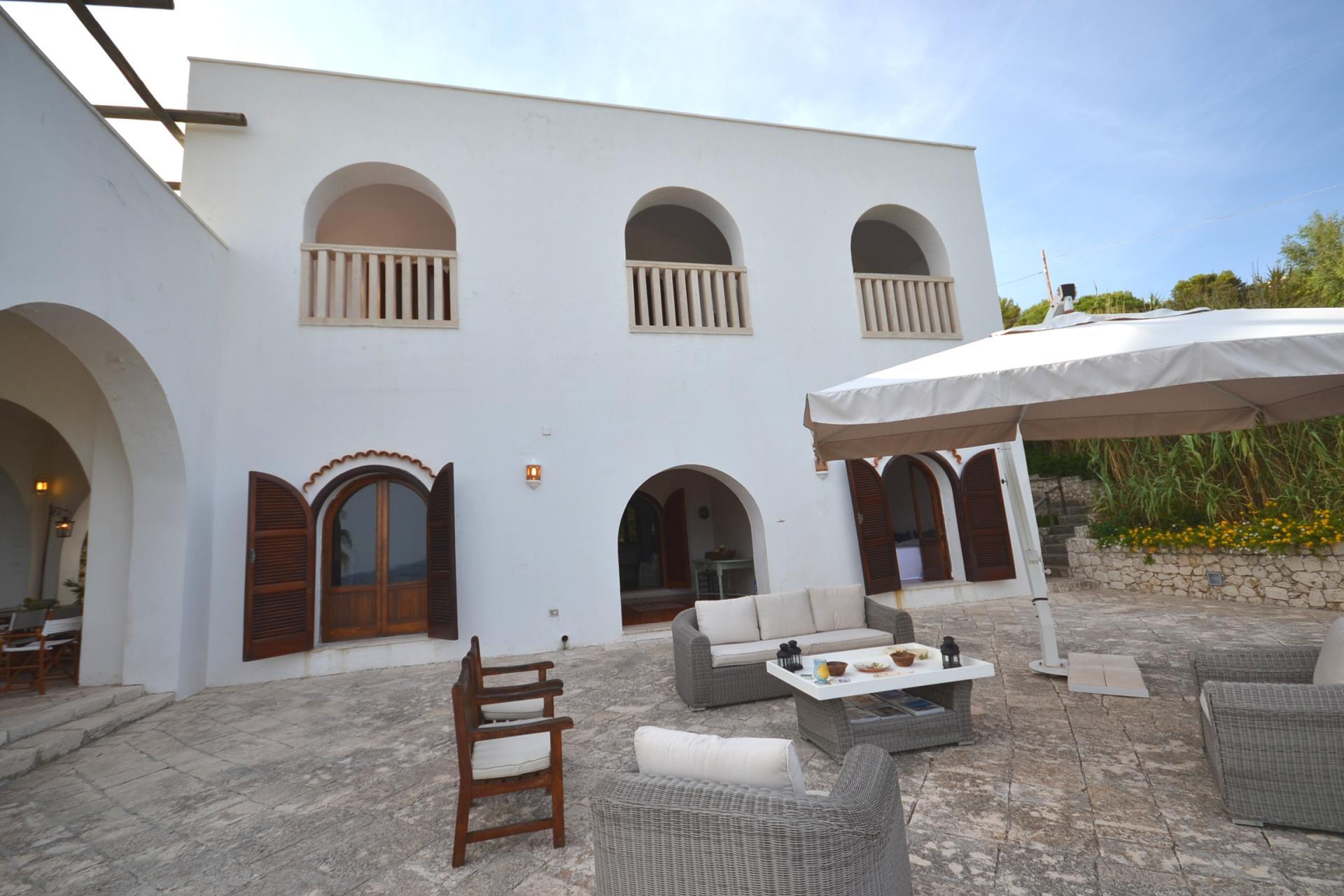 Villa Exterior , Le Arcate, Castro Marina, Puglia.