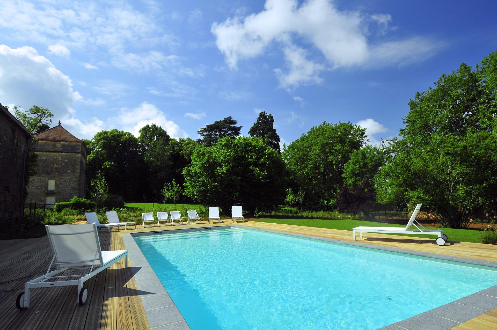 Outdoor Pool, Chateau de Redon, Hautefort, Dordogne.