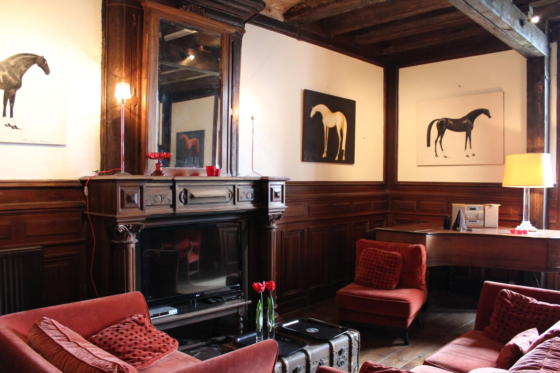 Lounge with Fireplace, Chateau de Sers, Angouleme, Vendee Charente.