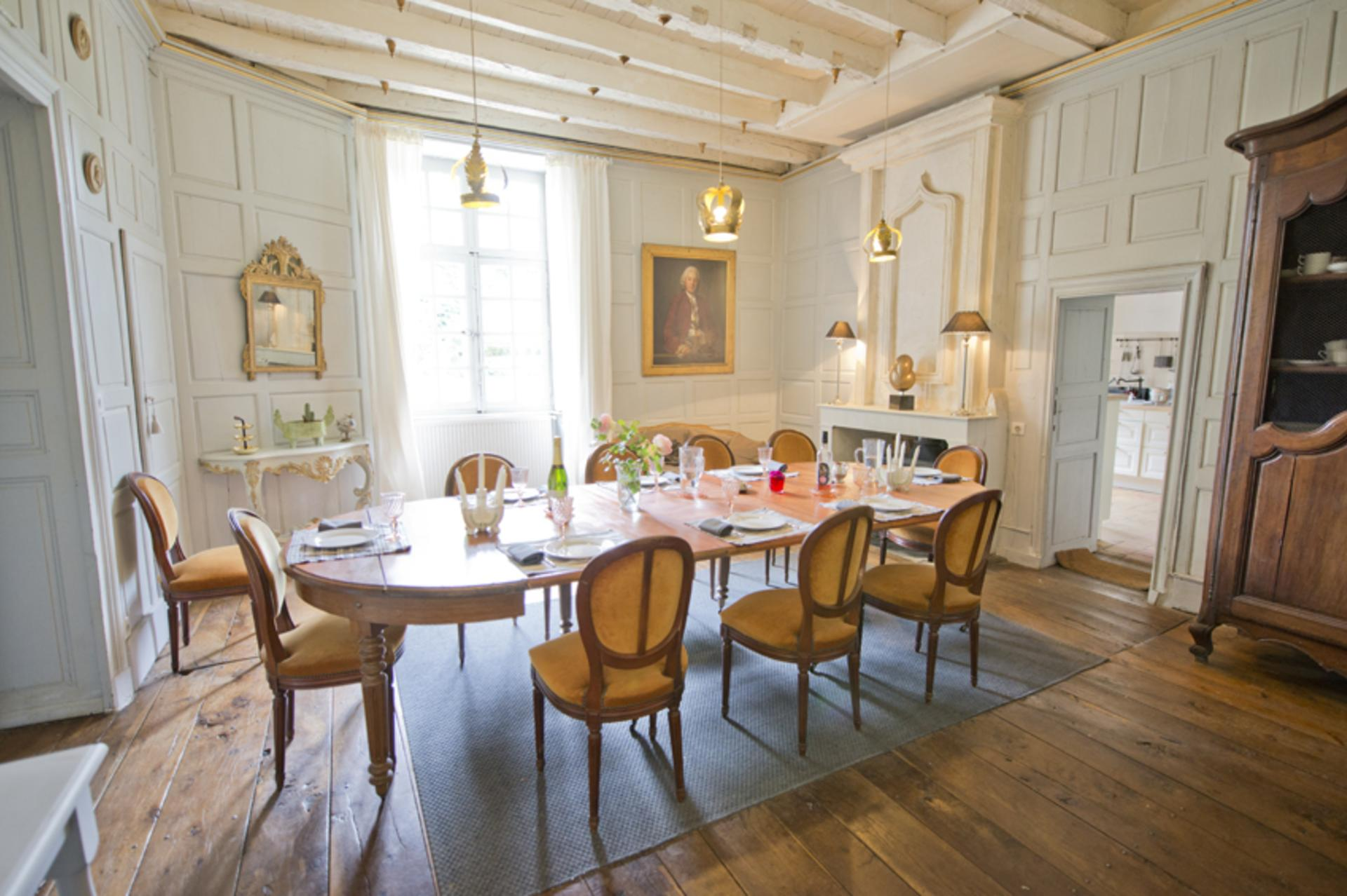 Dining Room, Chateau de Sers, Angouleme, Vendee Charente.