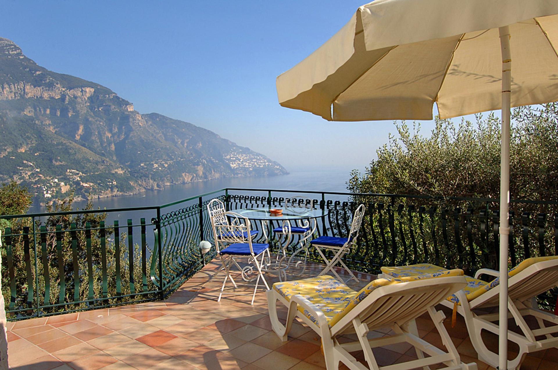 Villa Terrace Views 2, Il Gabbiano, Positano, Amalfi Coast Campania.