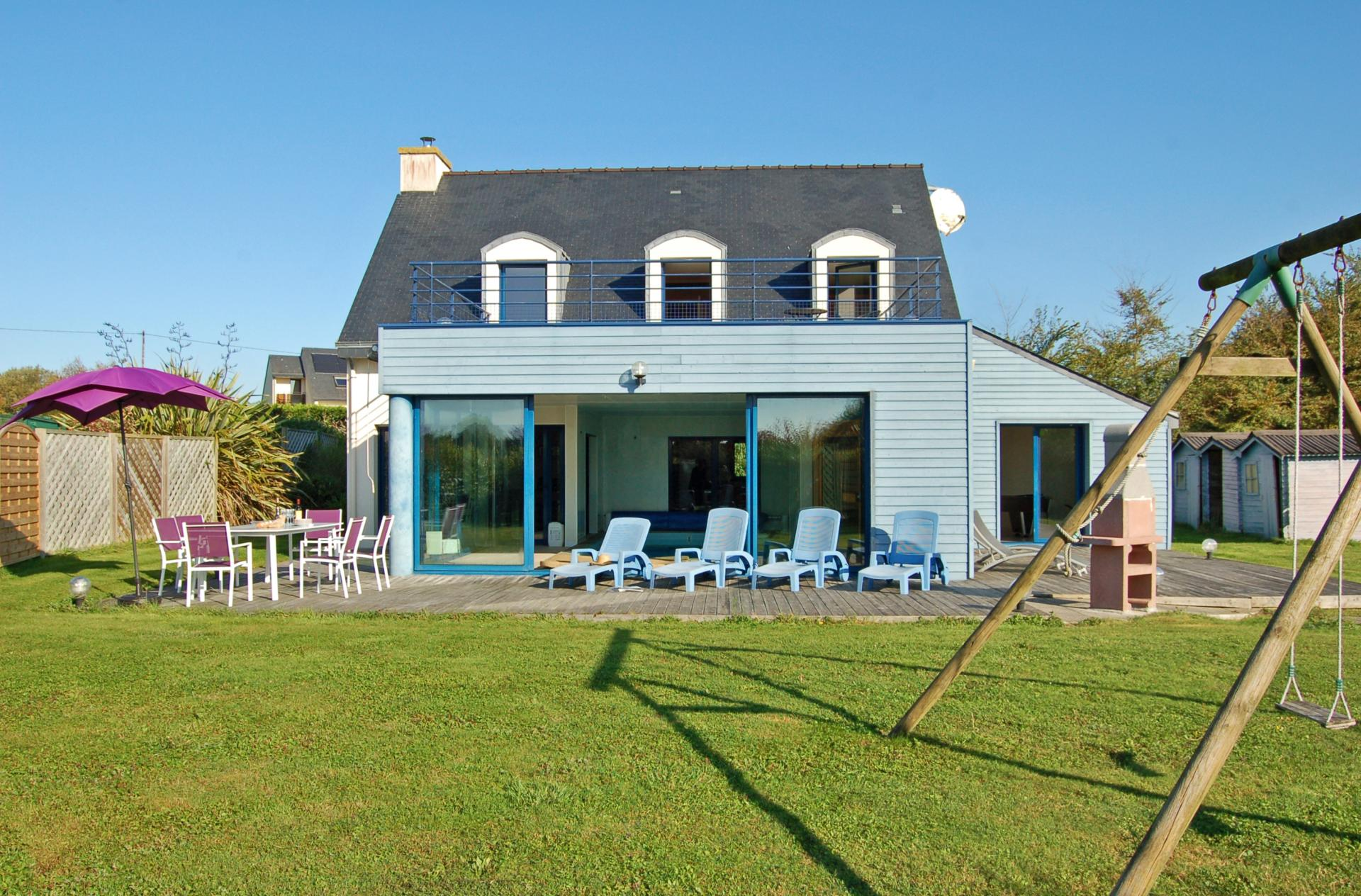Property exterior, Annick, Brittany, Moelan-sur-mer.