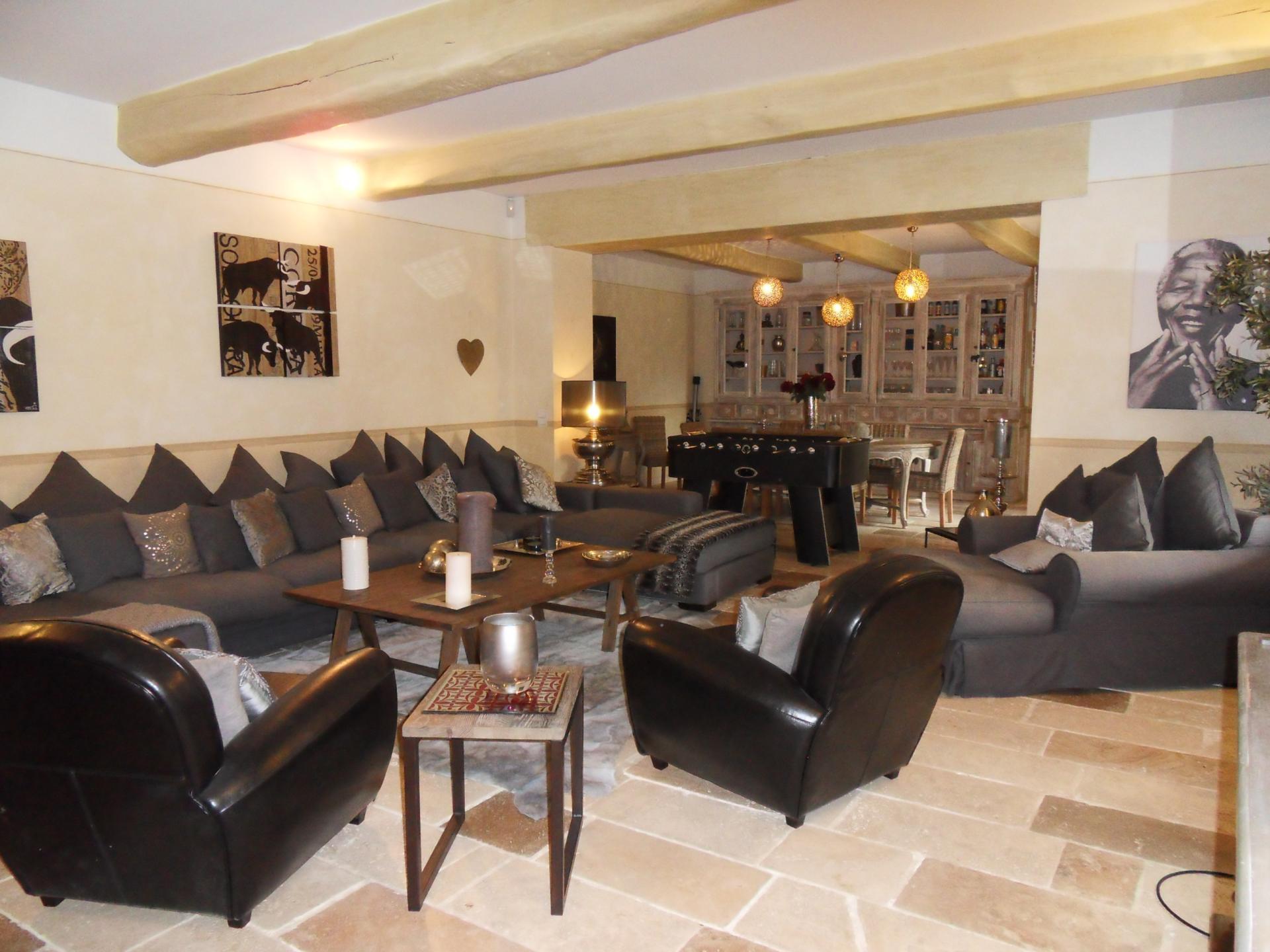 Cosy family lounge, Bastide Helene, Provence, St Remy-de-Provence.