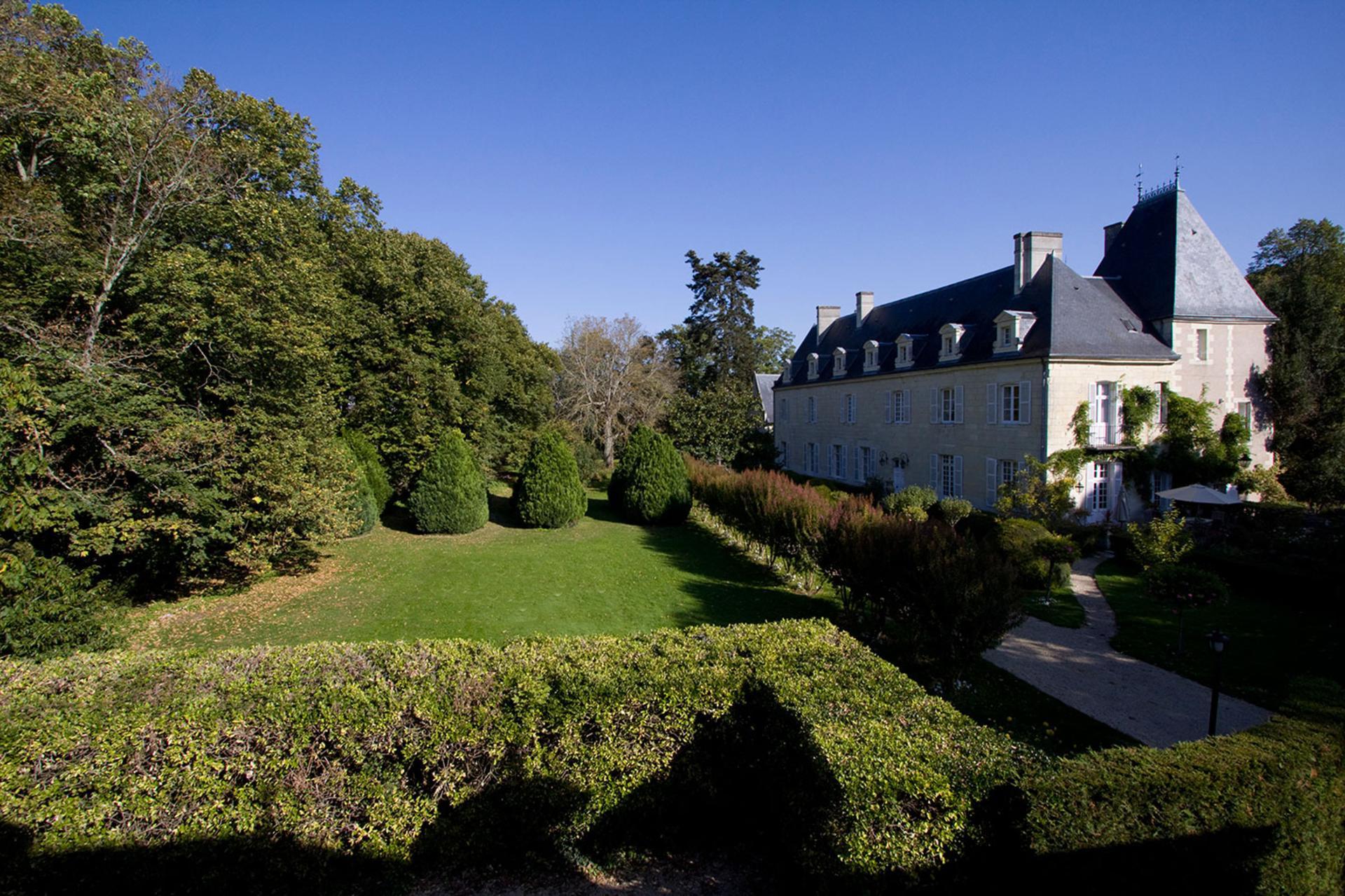 Villa Exterior Garden 1, Chateau de Detilly, Loire, Saumur.