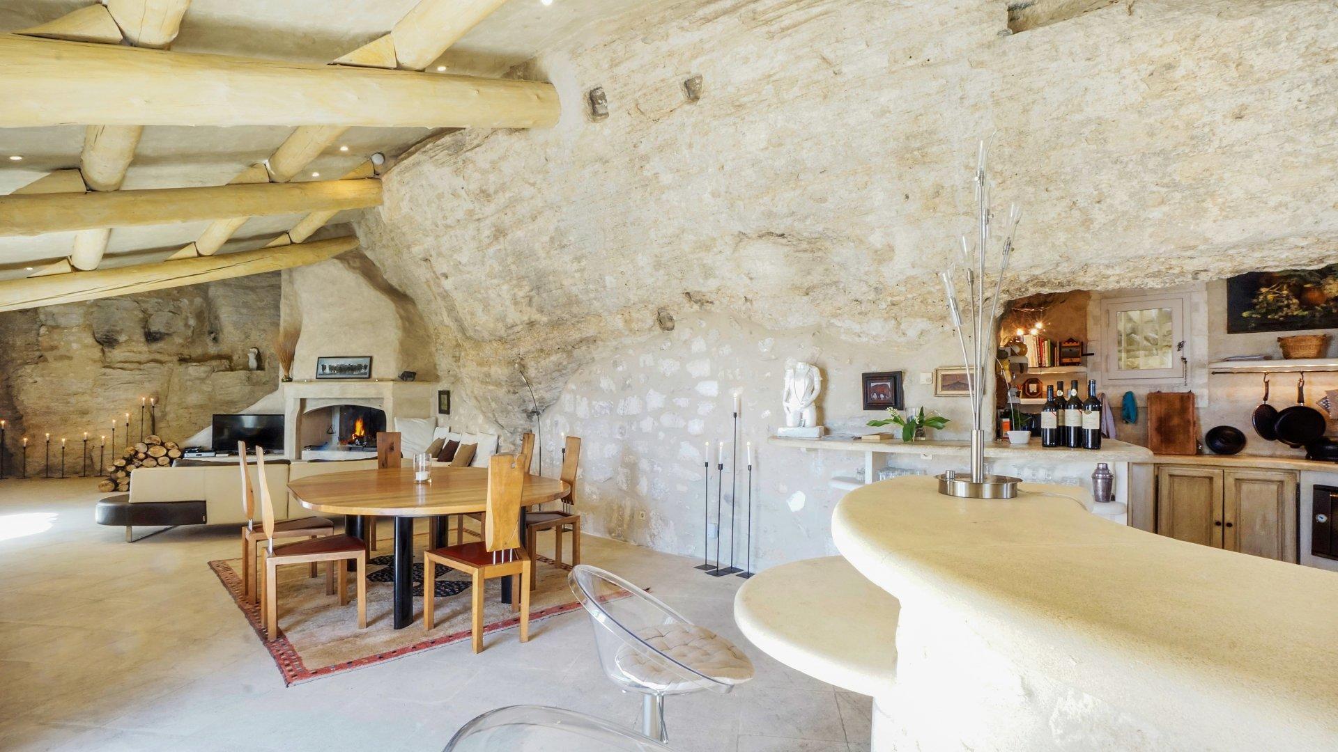 Villa Interior , La Roche des Alpilles, Les Baux de Provence, Provence.