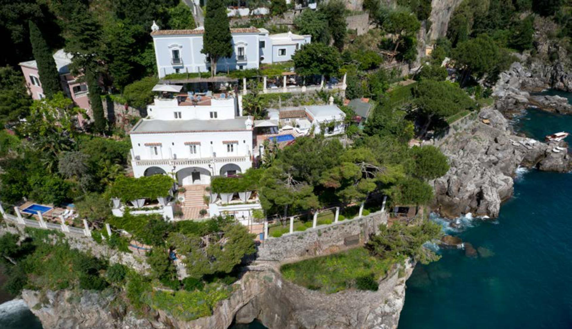 Villa from Above 2, La Divina, Positano, Amalfi Coast Campania.