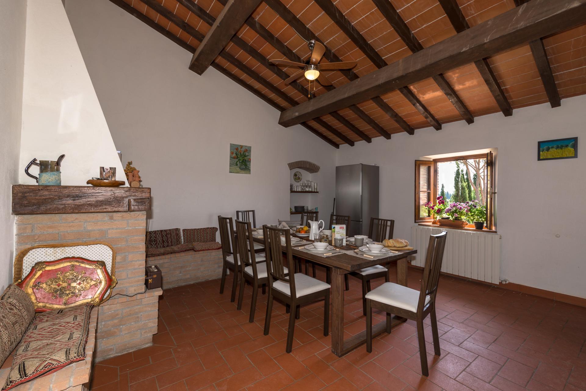 Dining Room, I Cipressi, Suvereto, Tuscany.