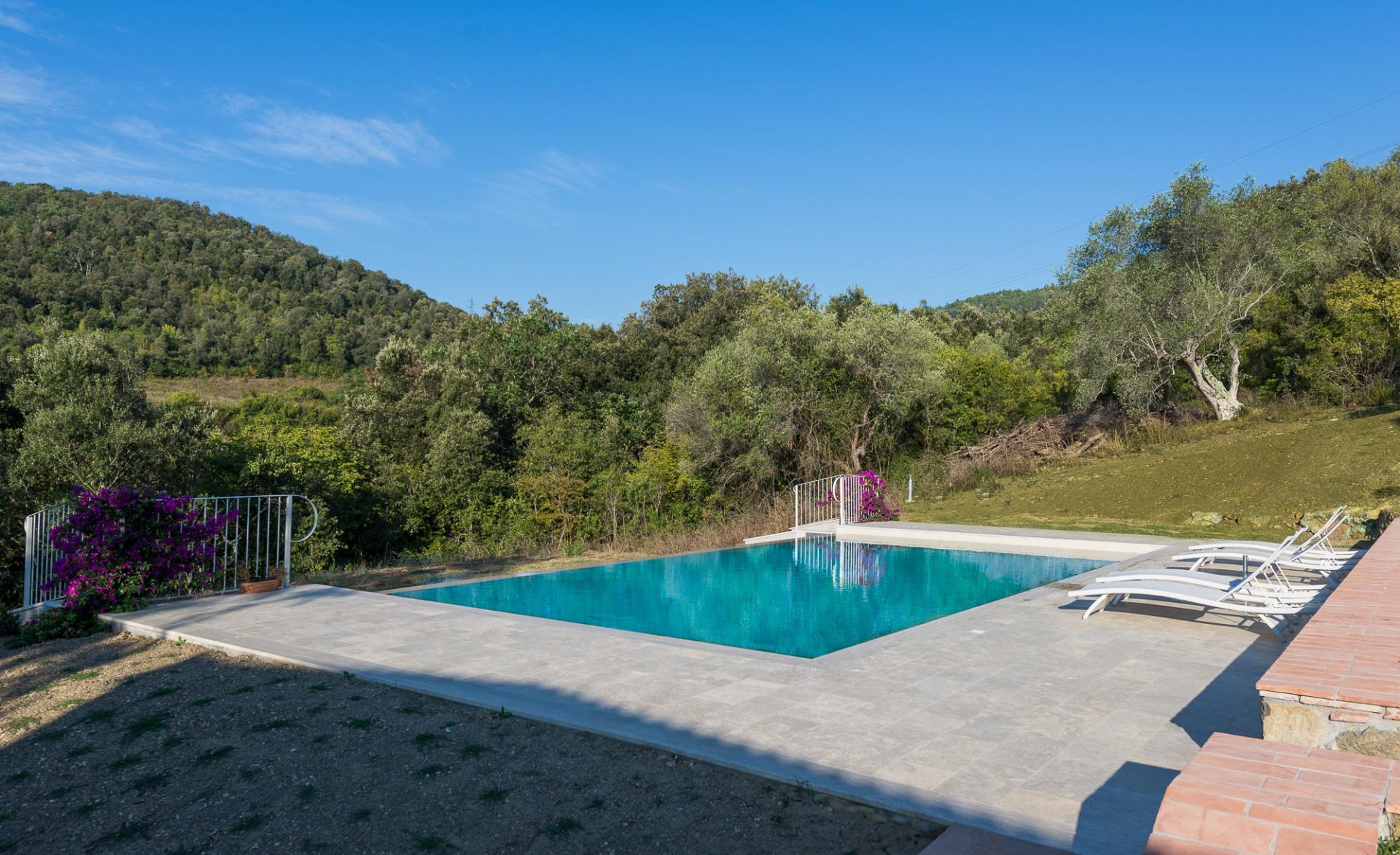 Outdoor Pool 2, I Cipressi, Suvereto, Tuscany.