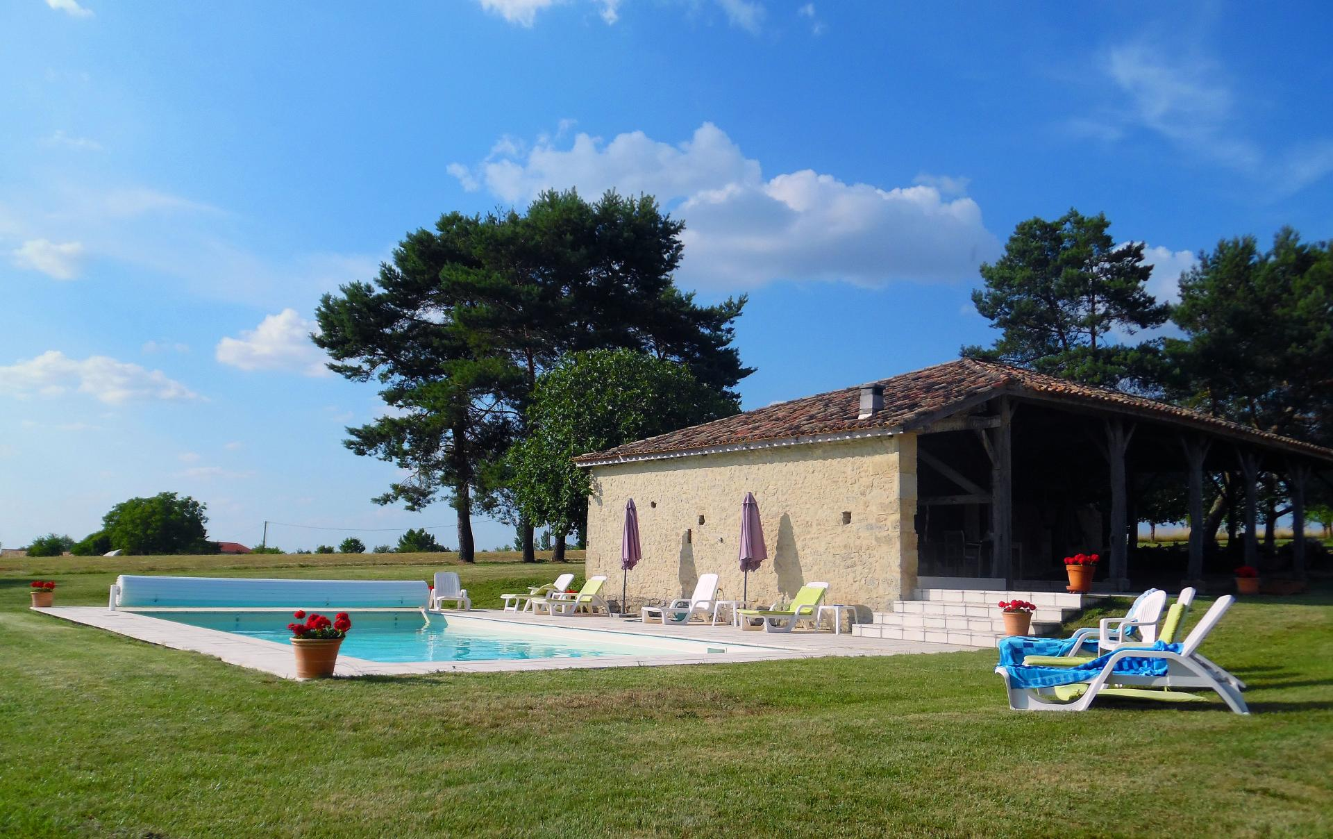 Villa Exterior 2, Duraine, Duras, South West France.