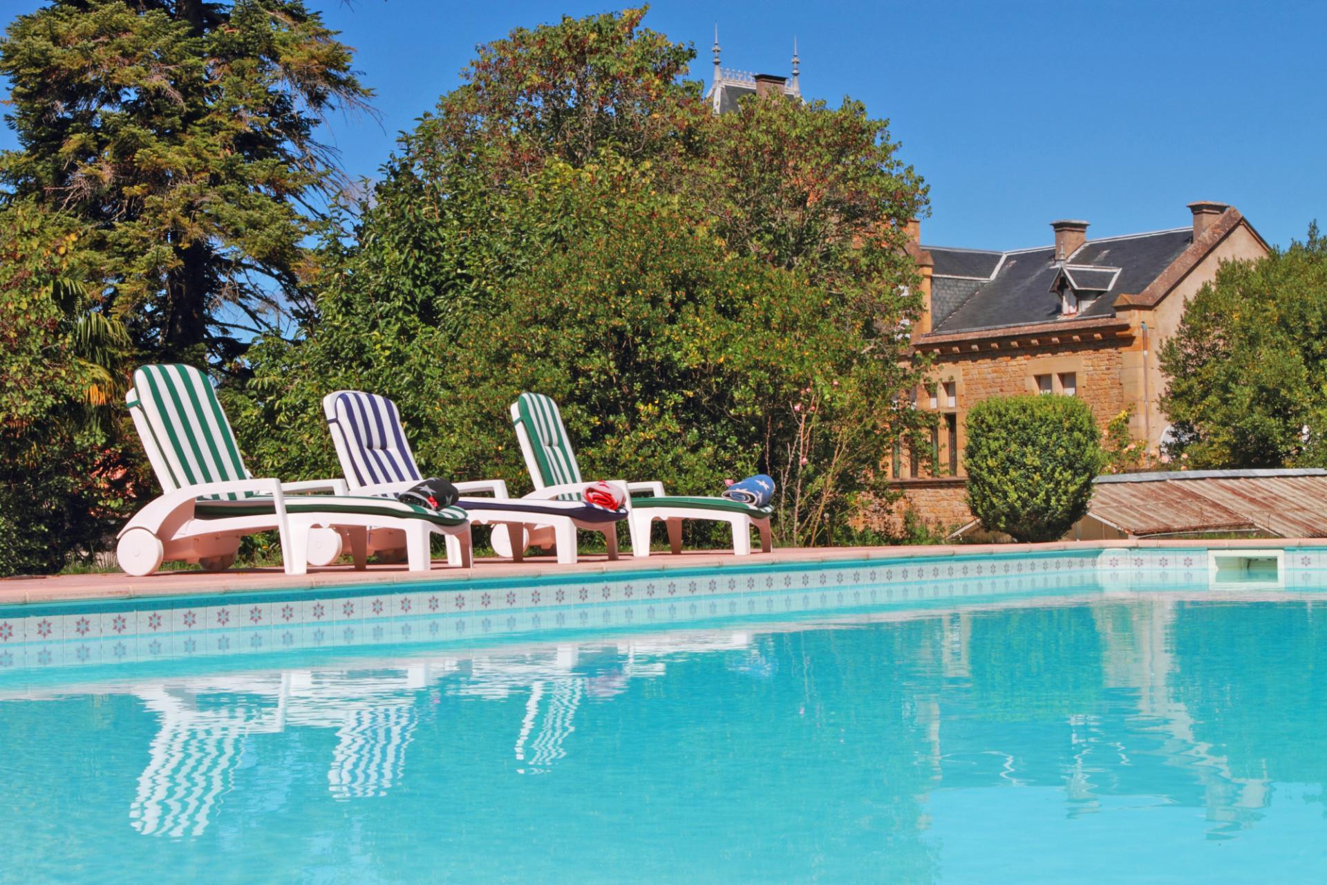 Outdoor Pool 2, Chateau de Comtes, Chalabre, Languedoc.