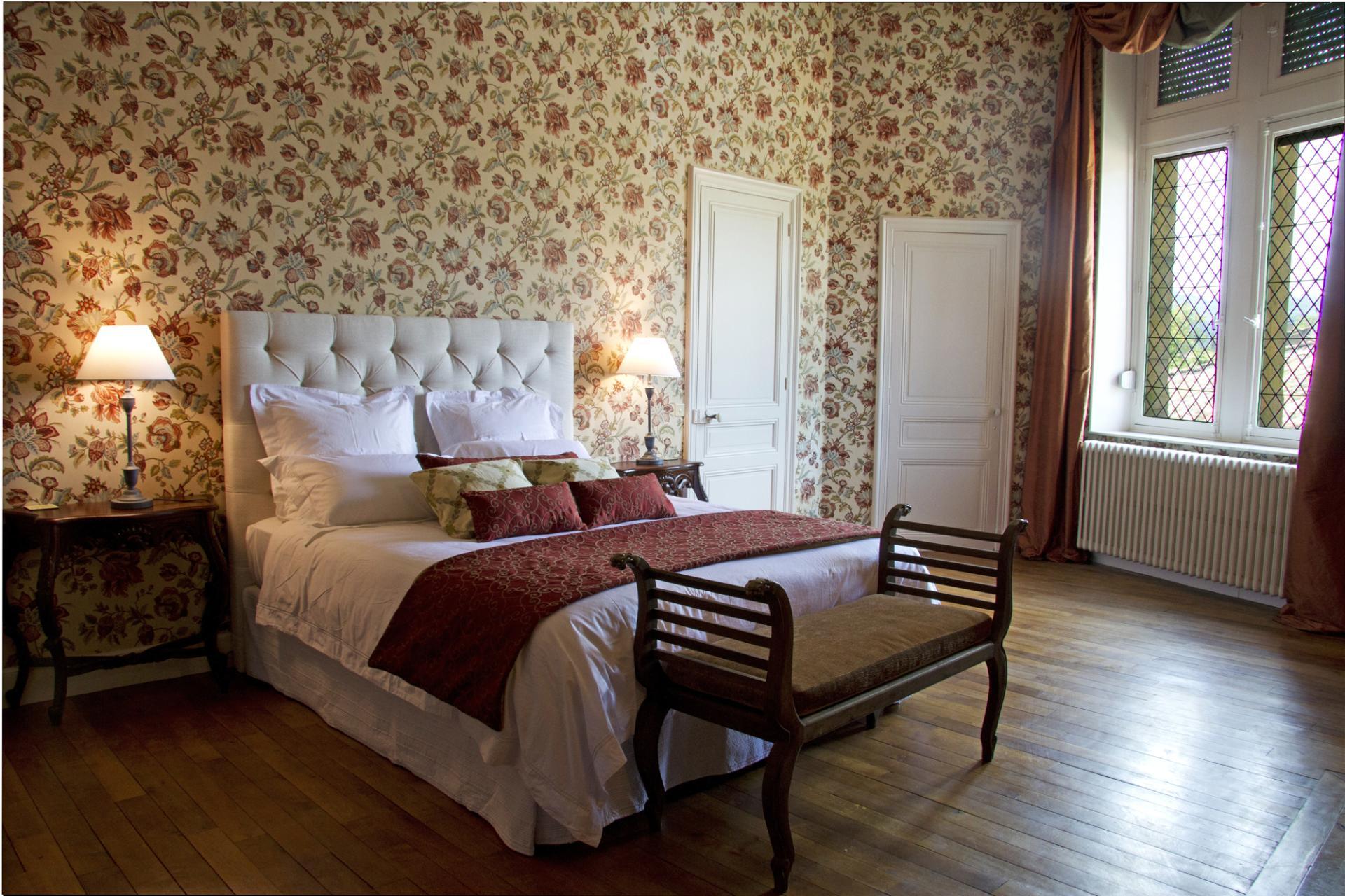Bedroom 1, Chateau de Comtes, Chalabre, Languedoc.