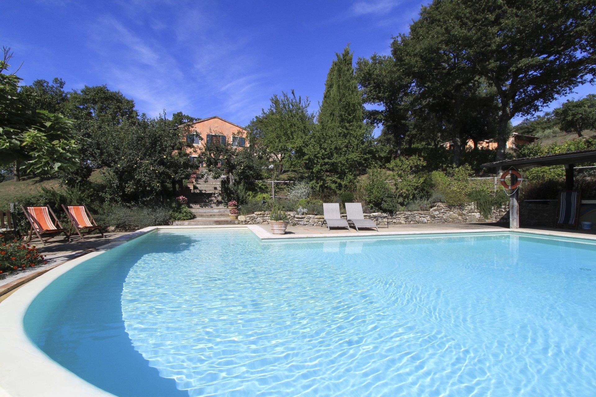 Italy Tuscany Siena Acquachiara pool