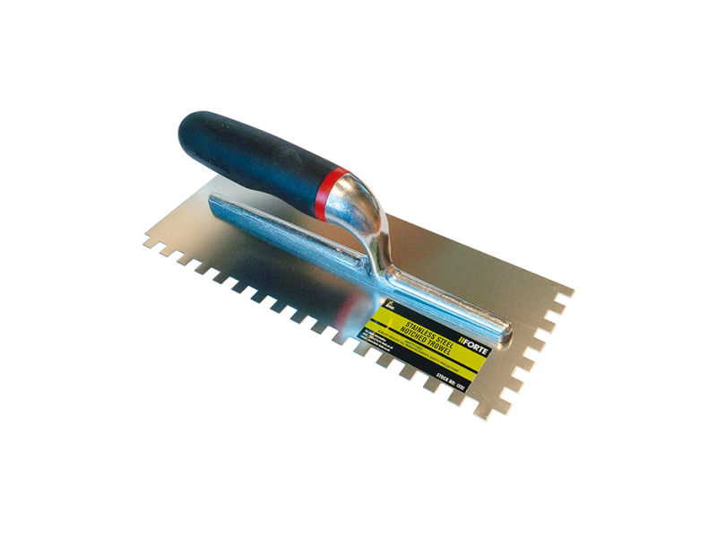 FORTE Stainless Steel Notched Trowel