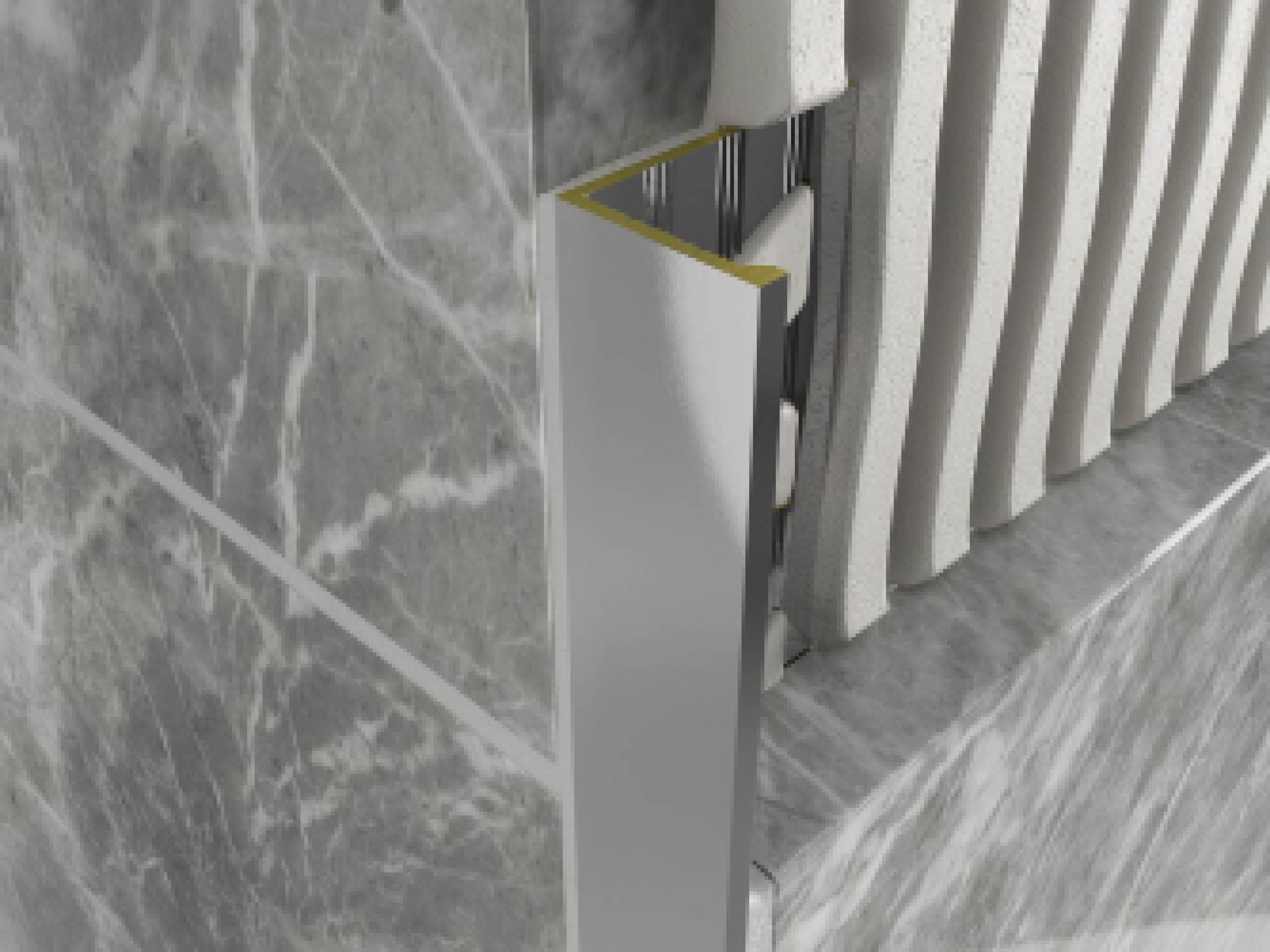 Atrim Chromium Brass Straight Edge 2.5m