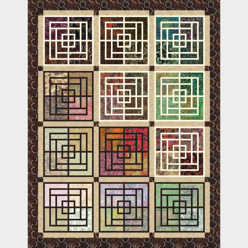 Moroccan Courtyard in Heirloom Strip Sets