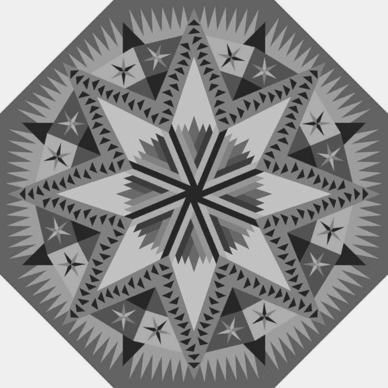 """Celestial Snowfall 60"""" Octagon Blank Template"""