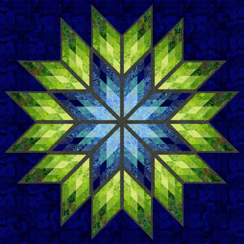 Prismatic Star in 2016 Spring Island Batik