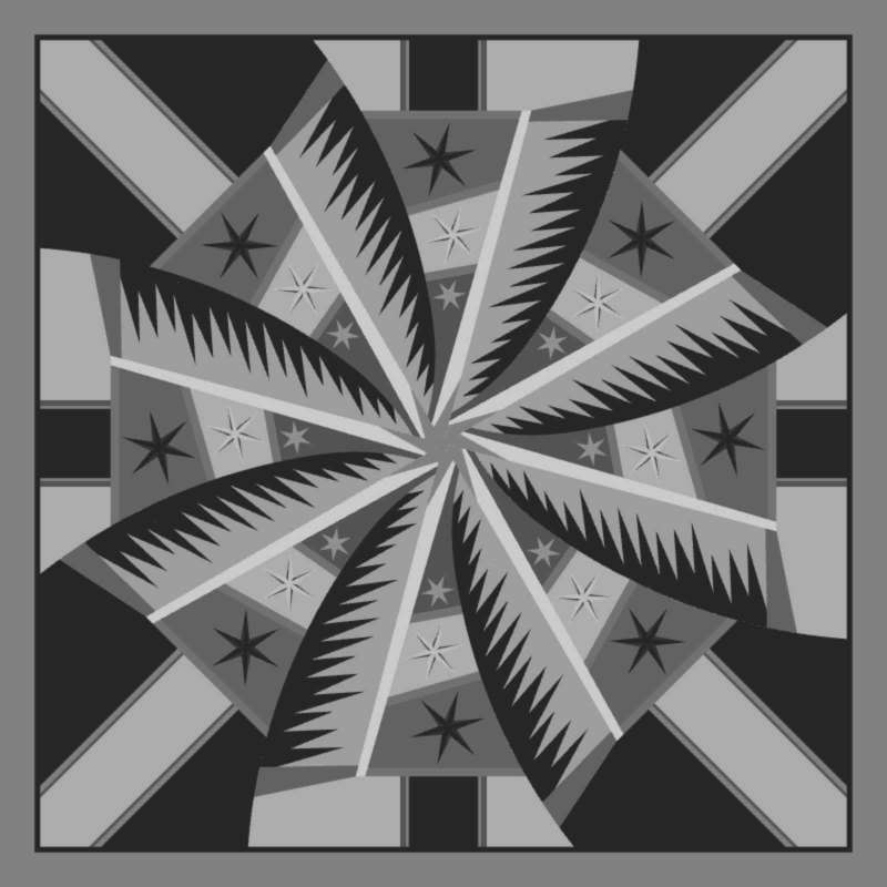 Weathered Windmill Blank Template