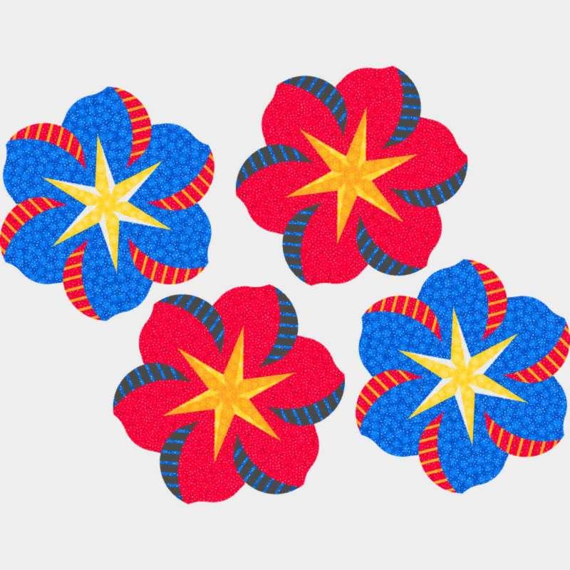 Fireworks Swirl Pattern