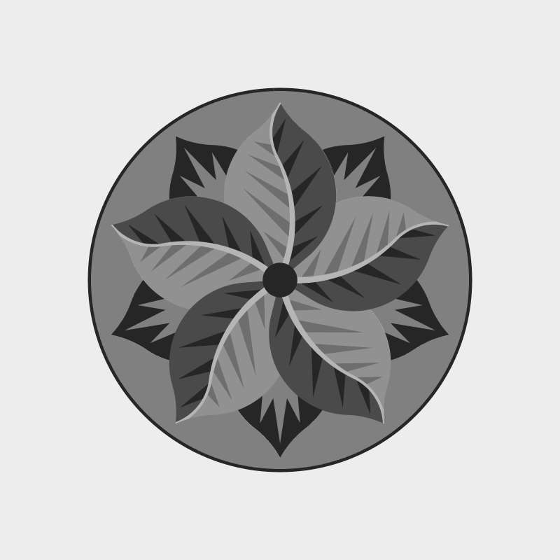 Poinsettia Circle Blank Template
